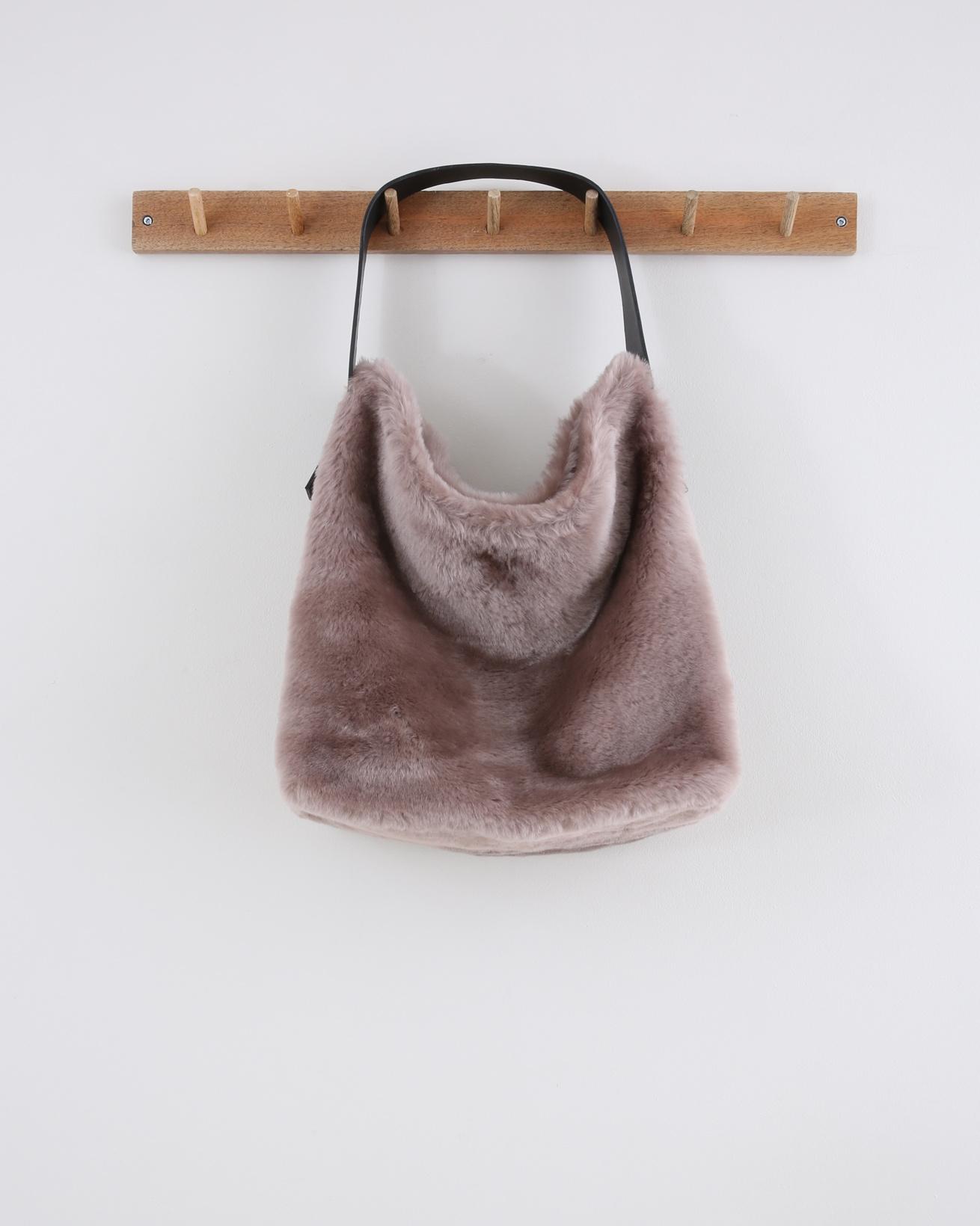 Sheepskin Hobo Bag -  40cm x 35cm - Mink - 1550