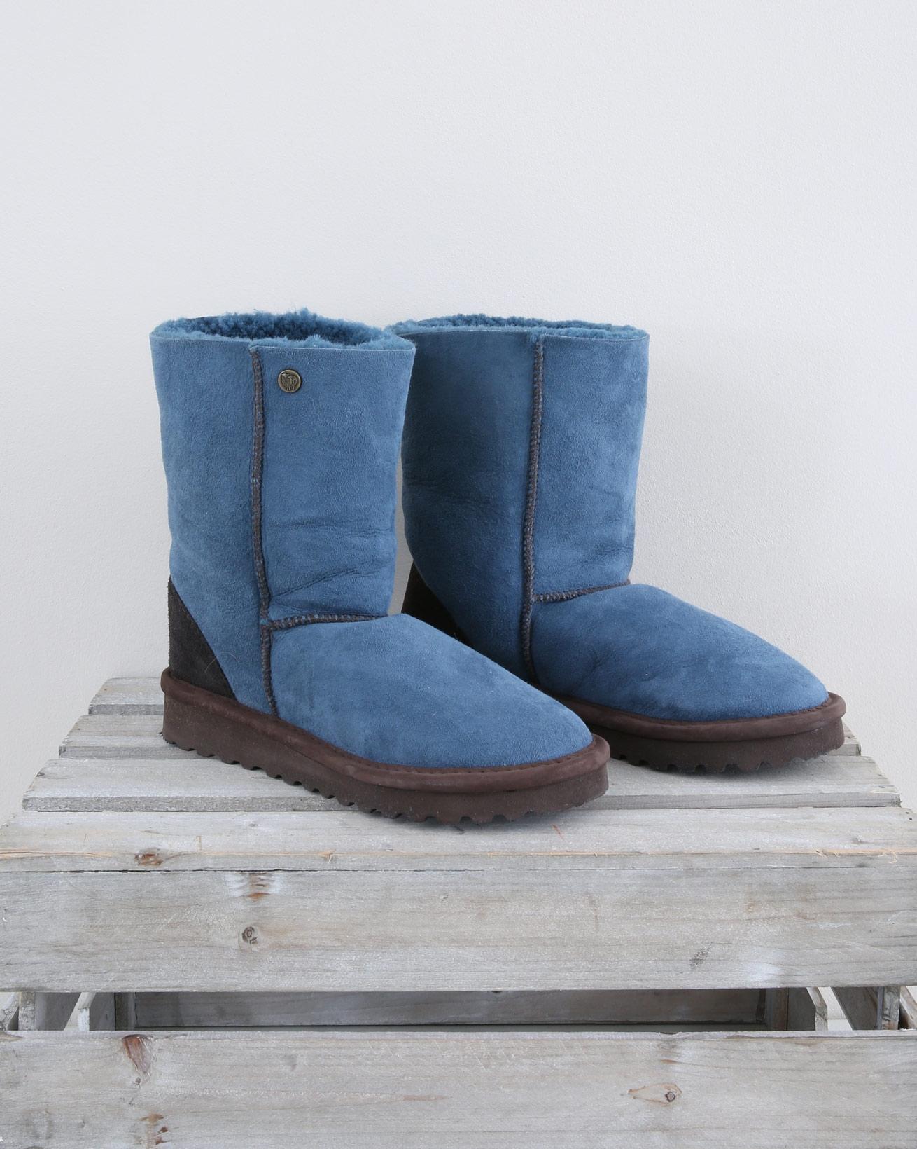Original Celt Sheepskin Boots REG - Size 6 - Icelandic Blue - 1557