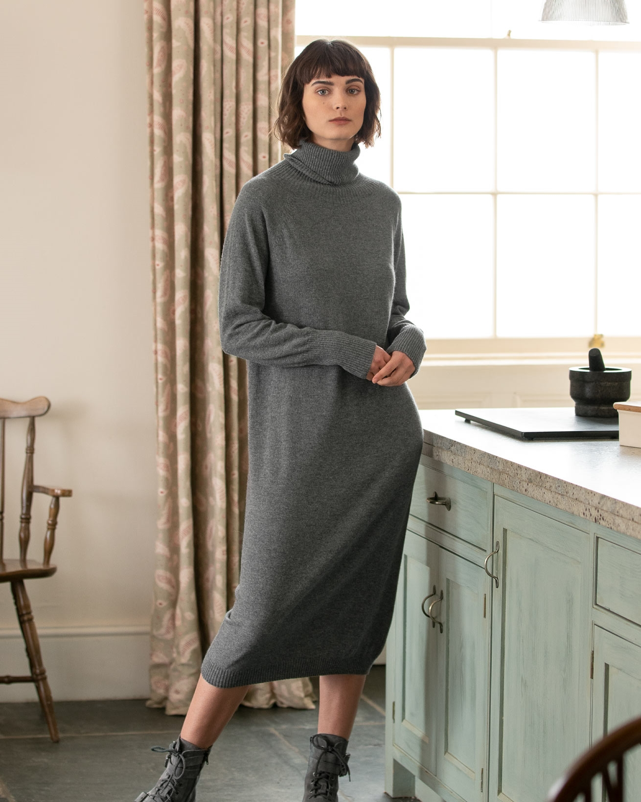 Supersoft Roll Neck Dress