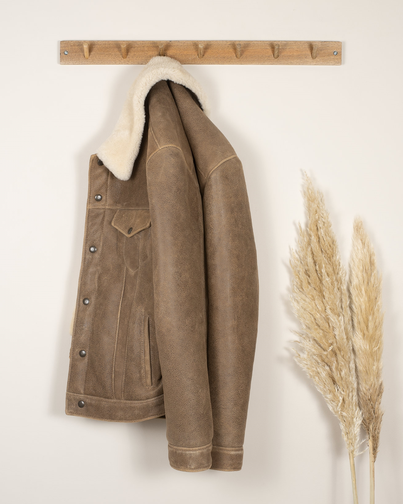 Men's Sheepskin Trucker Jacket