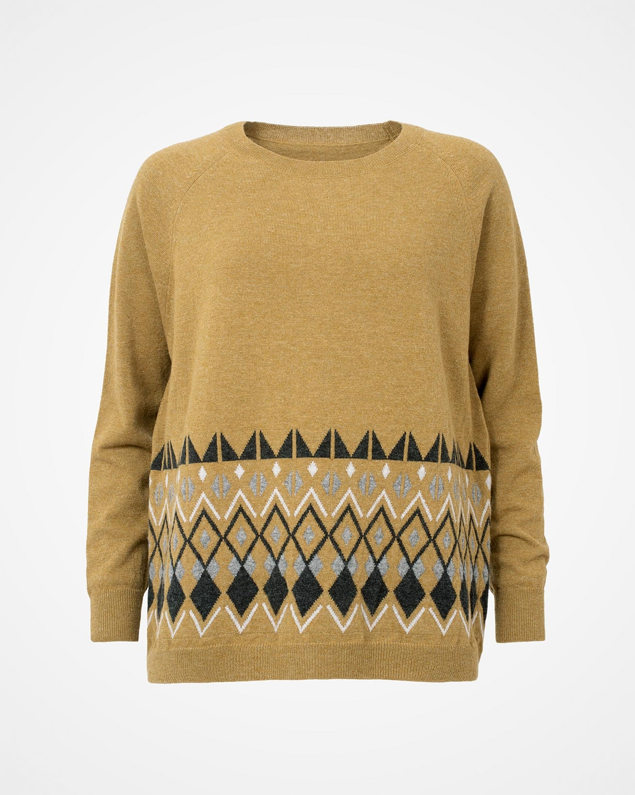 7708_hem-placement_crew-neck-jumper_green ochre_front.jpg