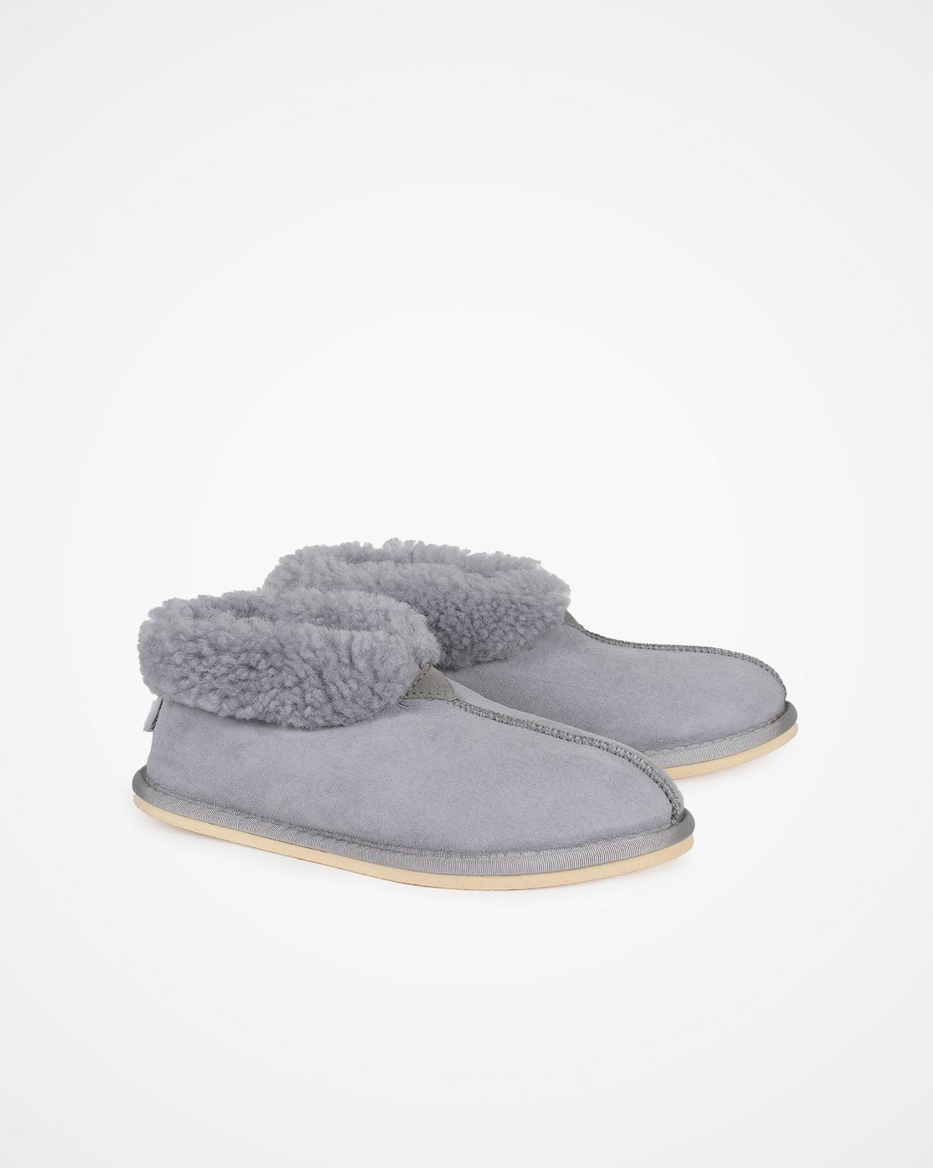 Ladies Sheepskin Bootee Slipper - Dapple Grey - Size 6 - 2490