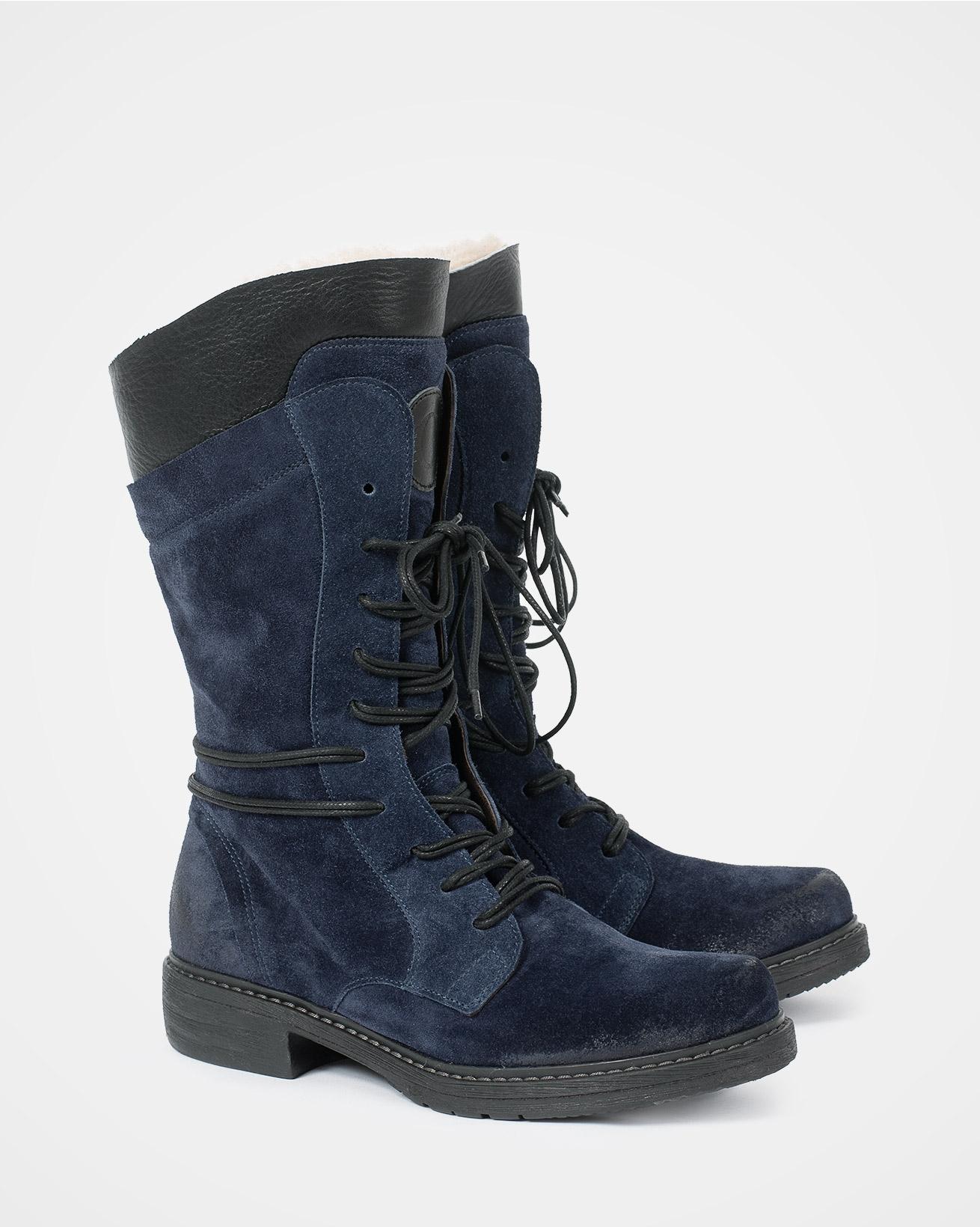 Woodsman boots - Size 37 - Navy - 1733