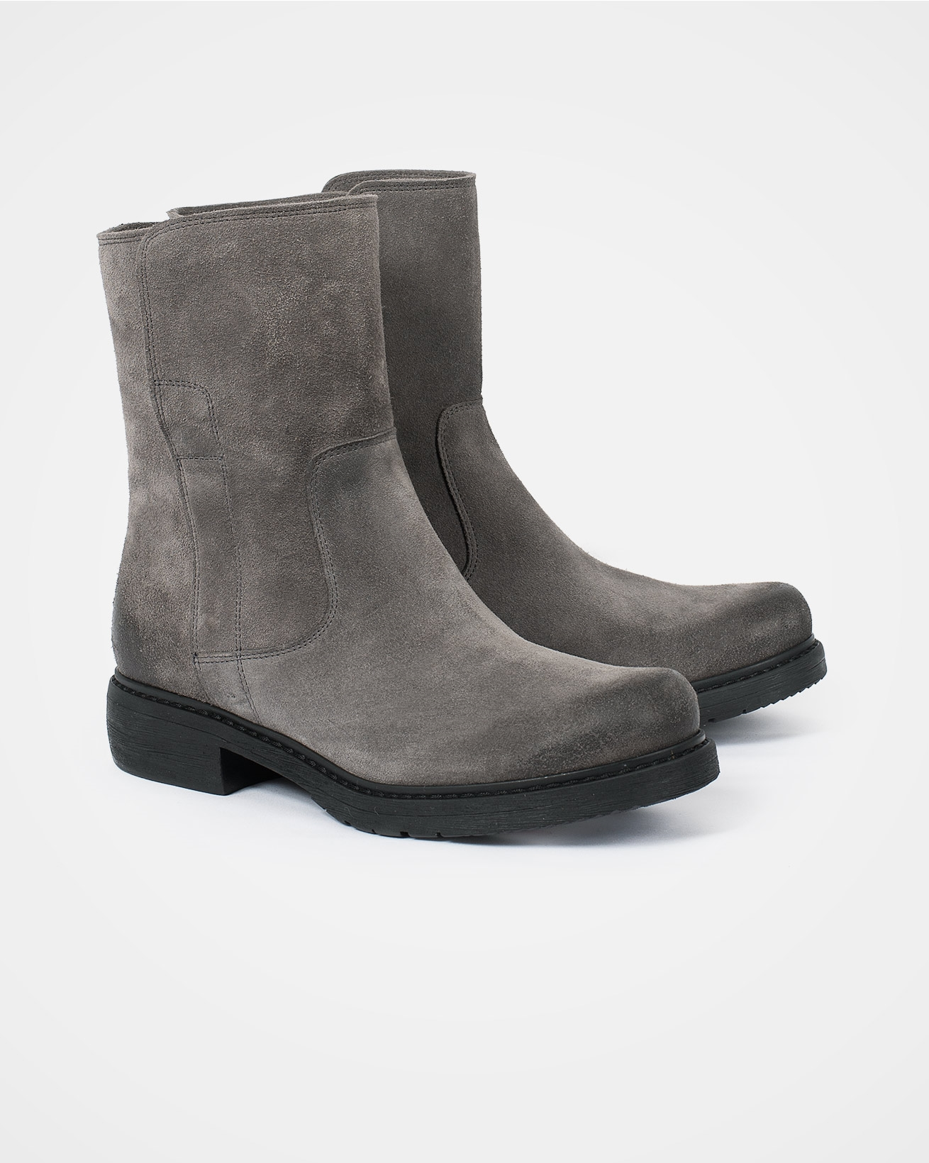 Essential Leather Ankle Boots - Size 39 - Grey - 2092