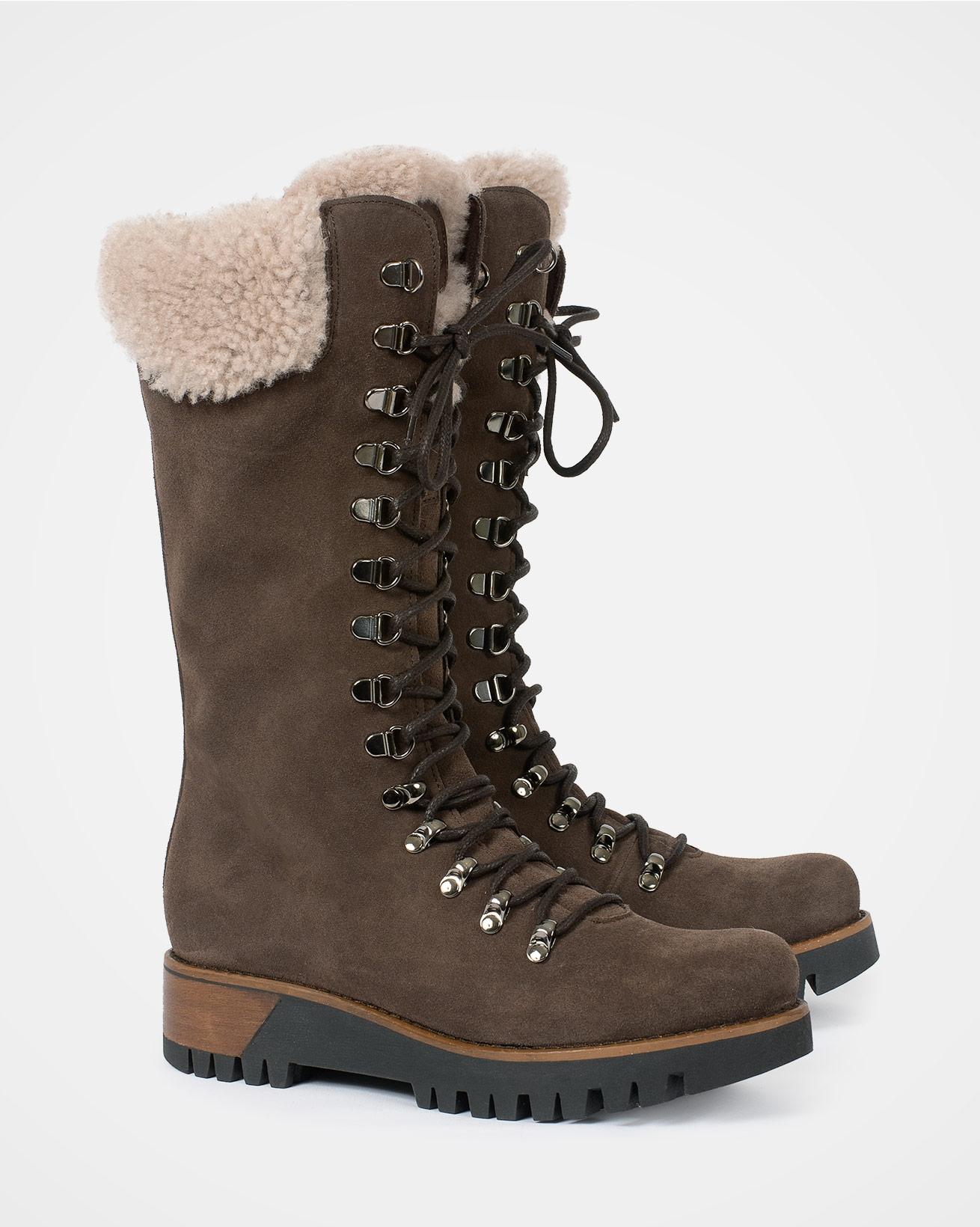 Icon Sheepskin Trim Wilderness Boots - Size 41 - Tanners brown - 2780