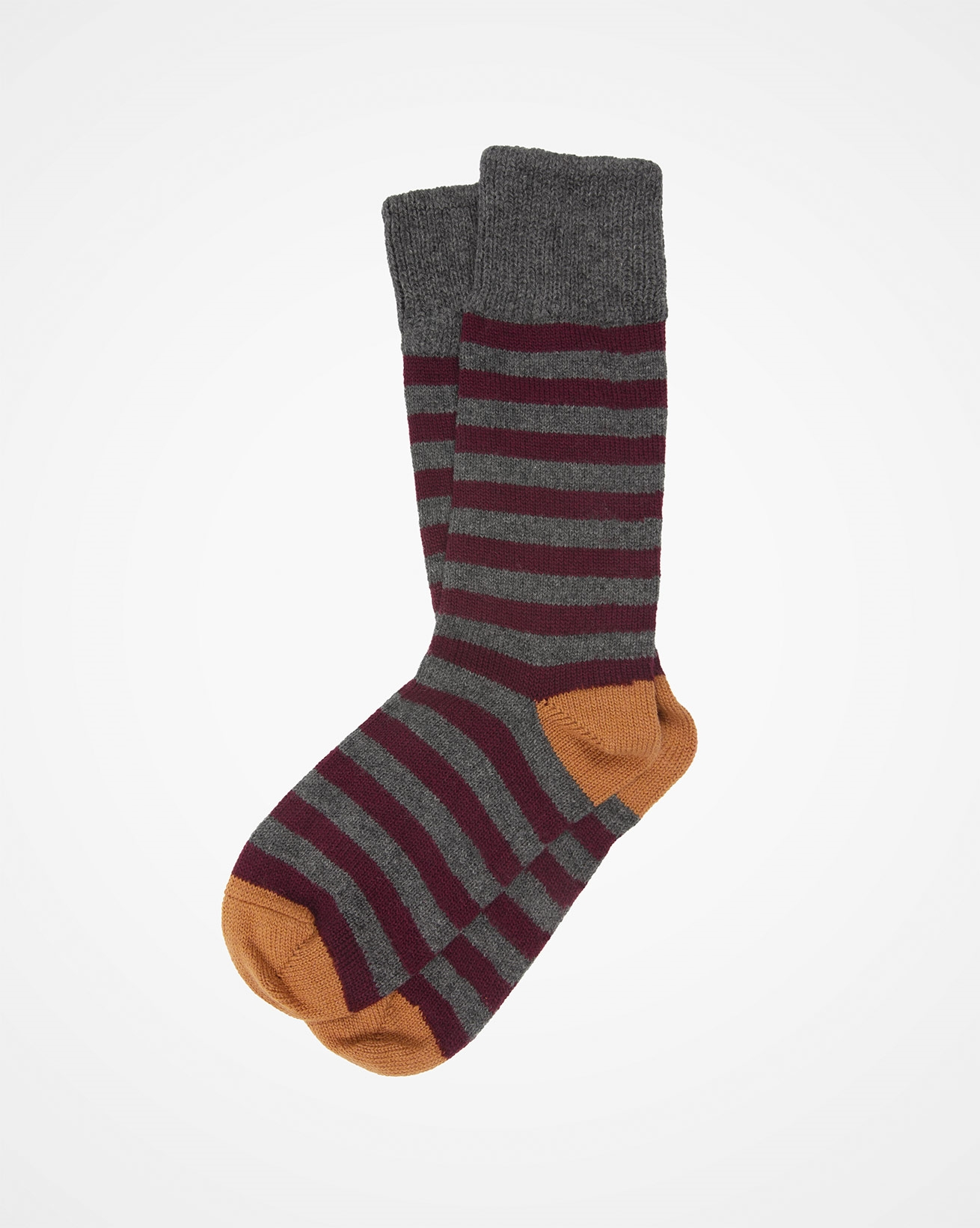 Ladies Cashmere Cotton Striped Sock