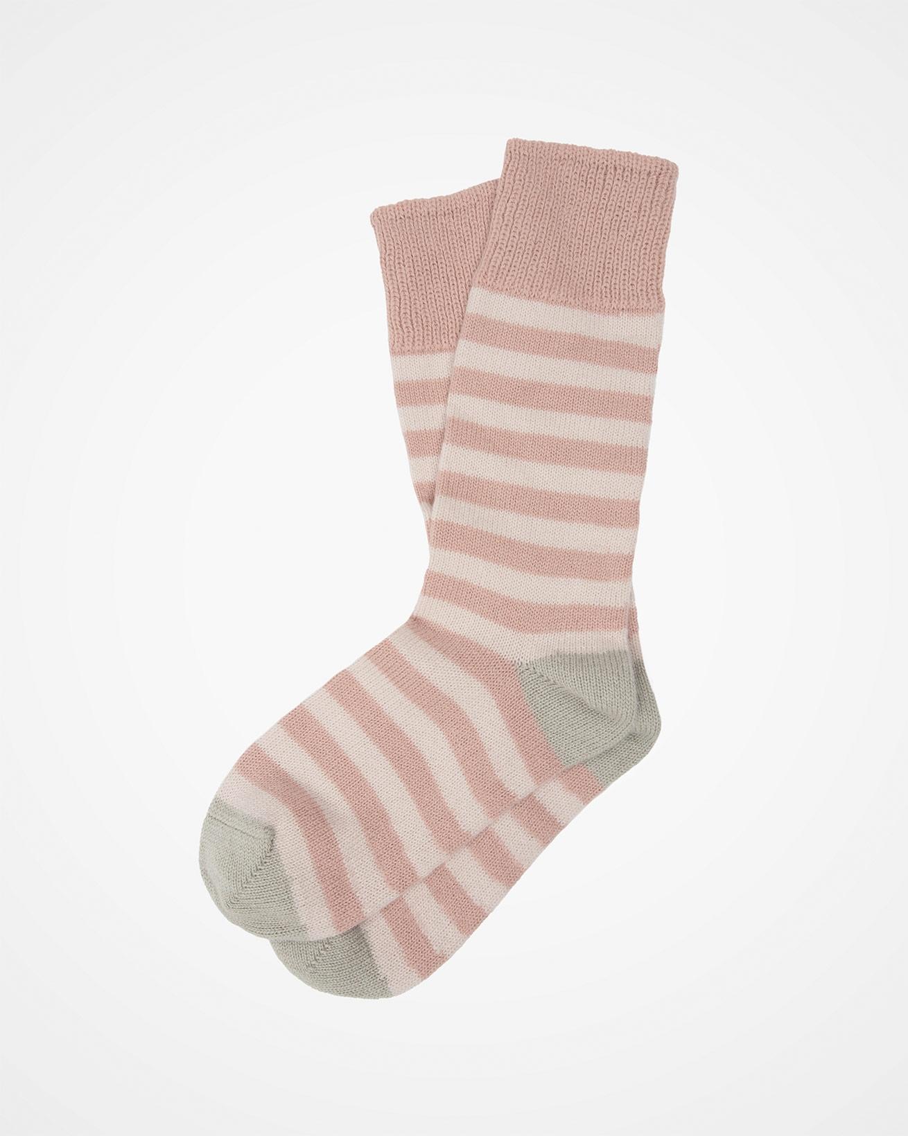 Ladies Cashmere Cotton Striped Sock