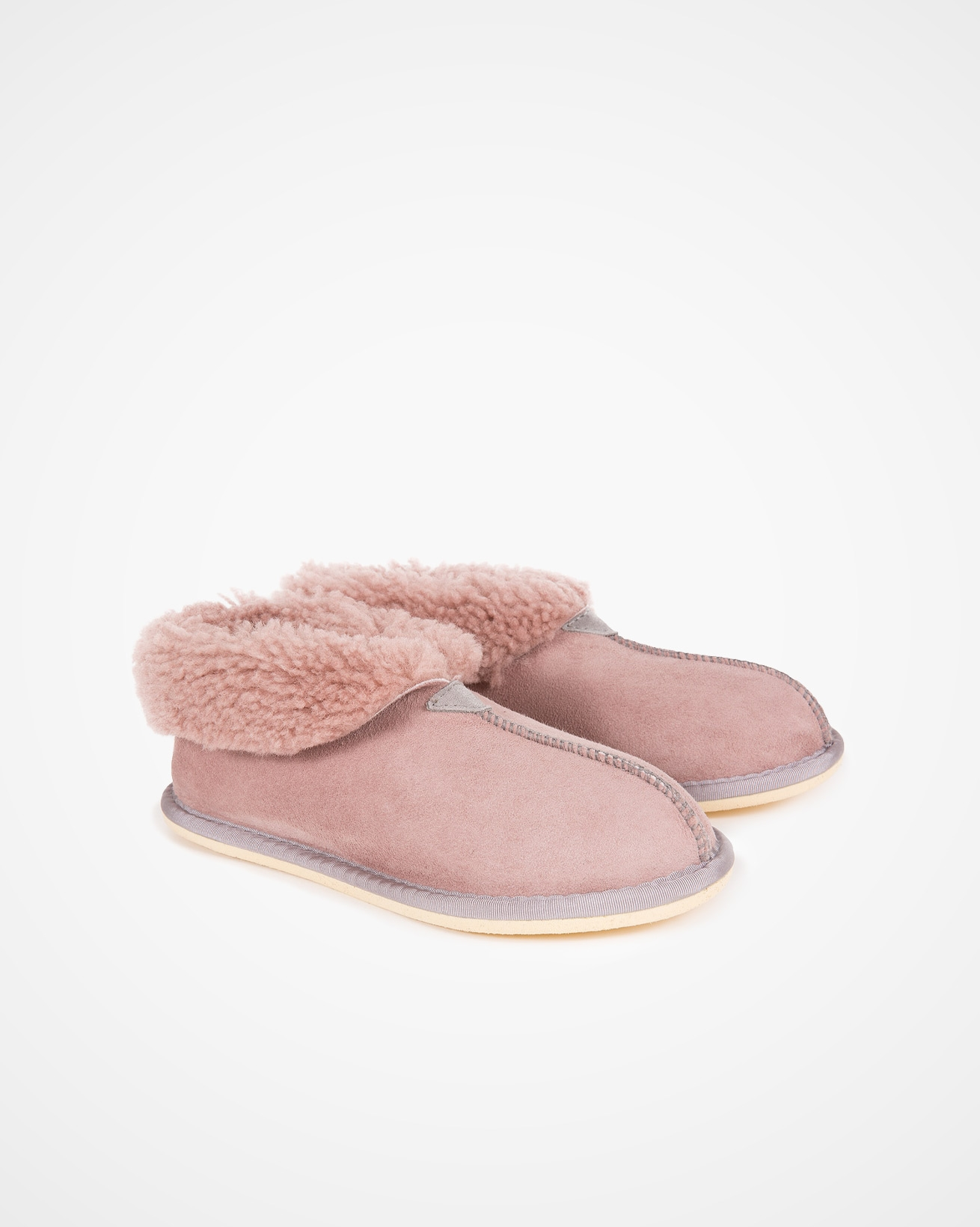 Ladies Sheepskin Bootee Slipper - Size 7 - Dusky Pink - 2015