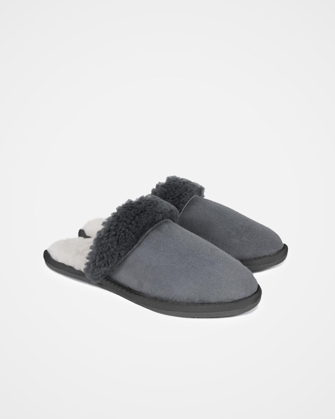 Ladies Turnback Mules - Size 5 - Dark Grey - 2075