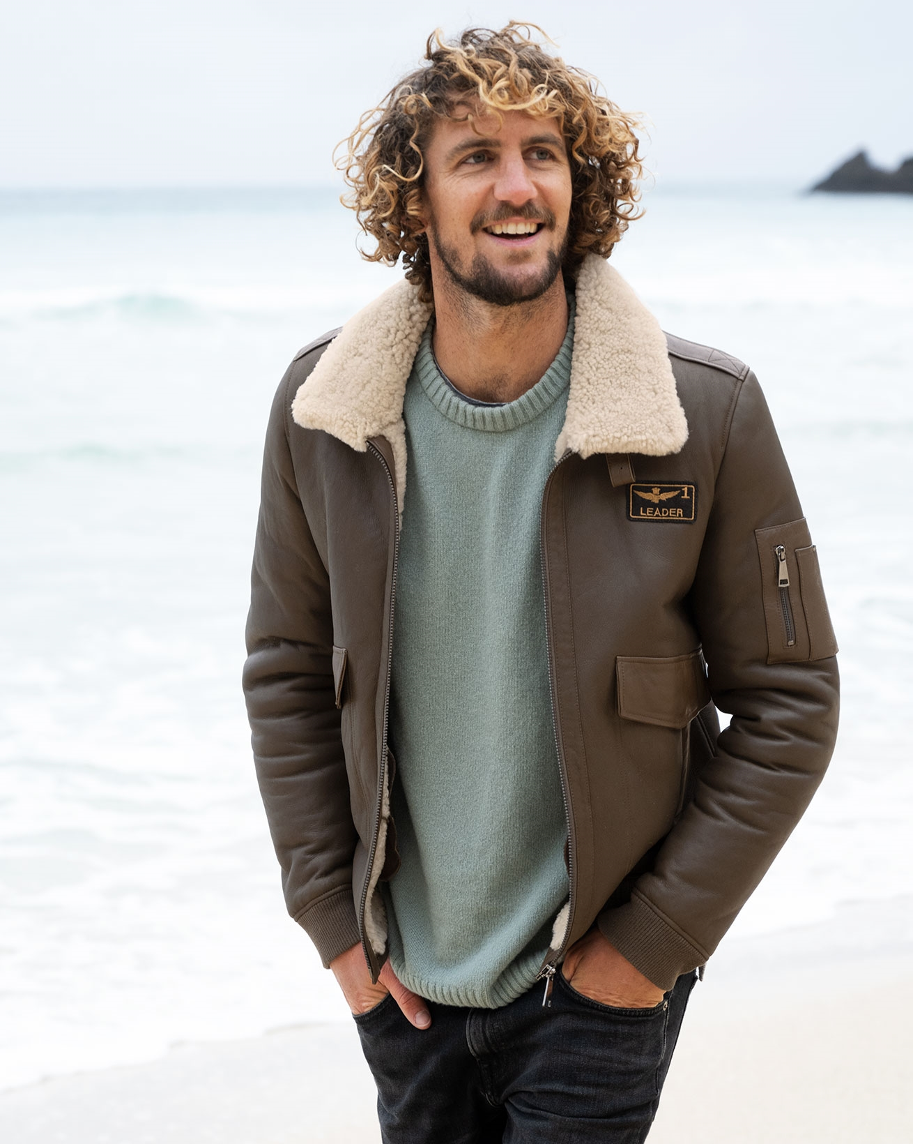Men's Shearling Maverick Jacket