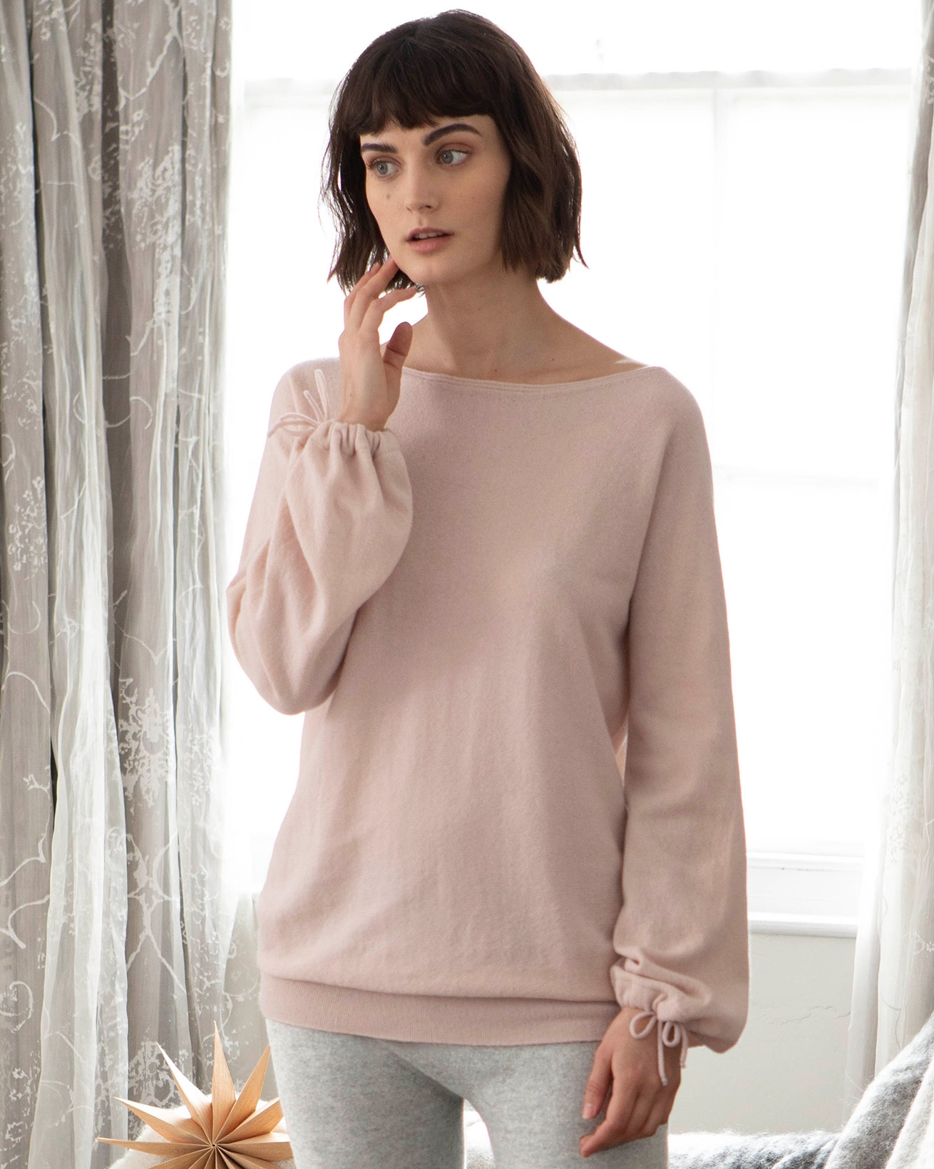 Boat Neck Luxe Lounge Sweater