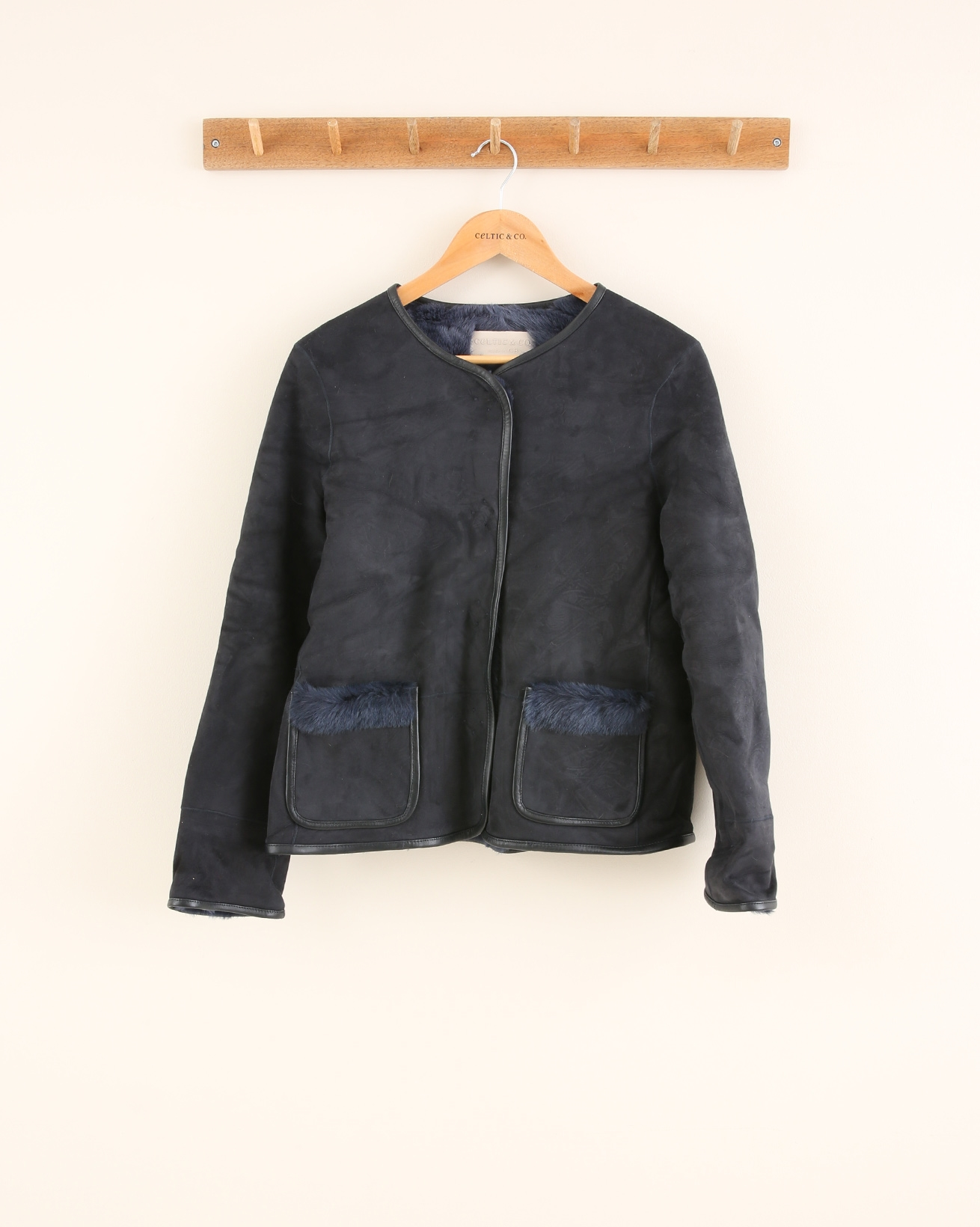 Neat Boxy Jacket - Size 10 - Navy - 1665