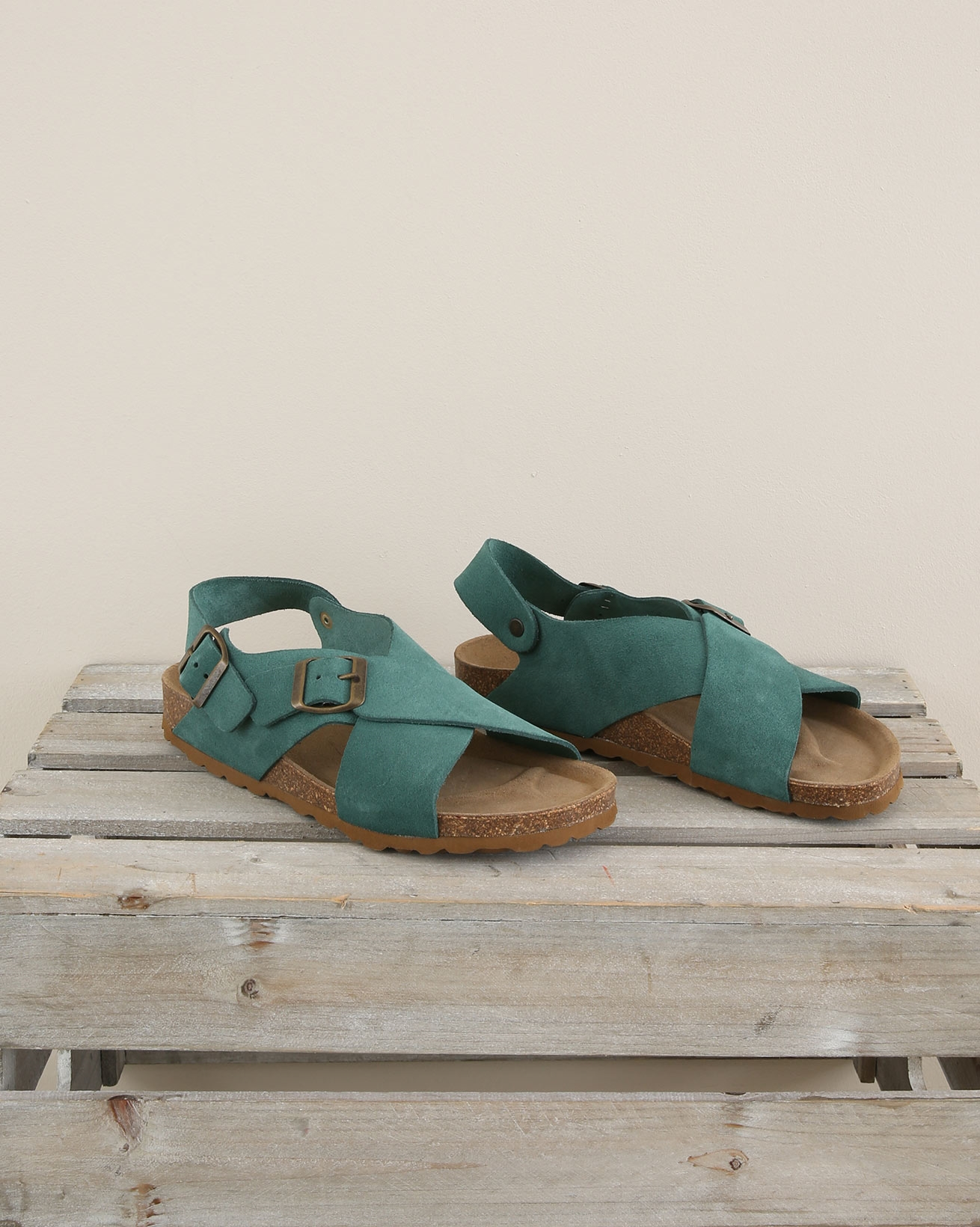Crossover Sling back sandal - Size 37 - Sea Green - 1685