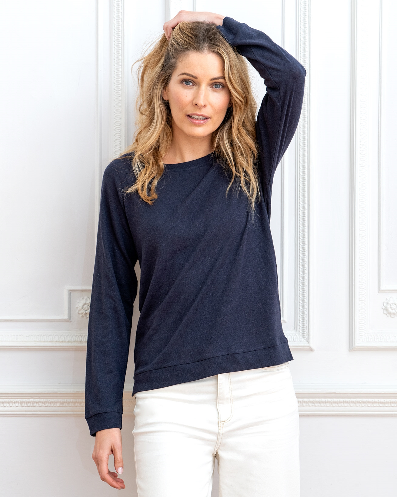 Linen Cotton Sweatshirt