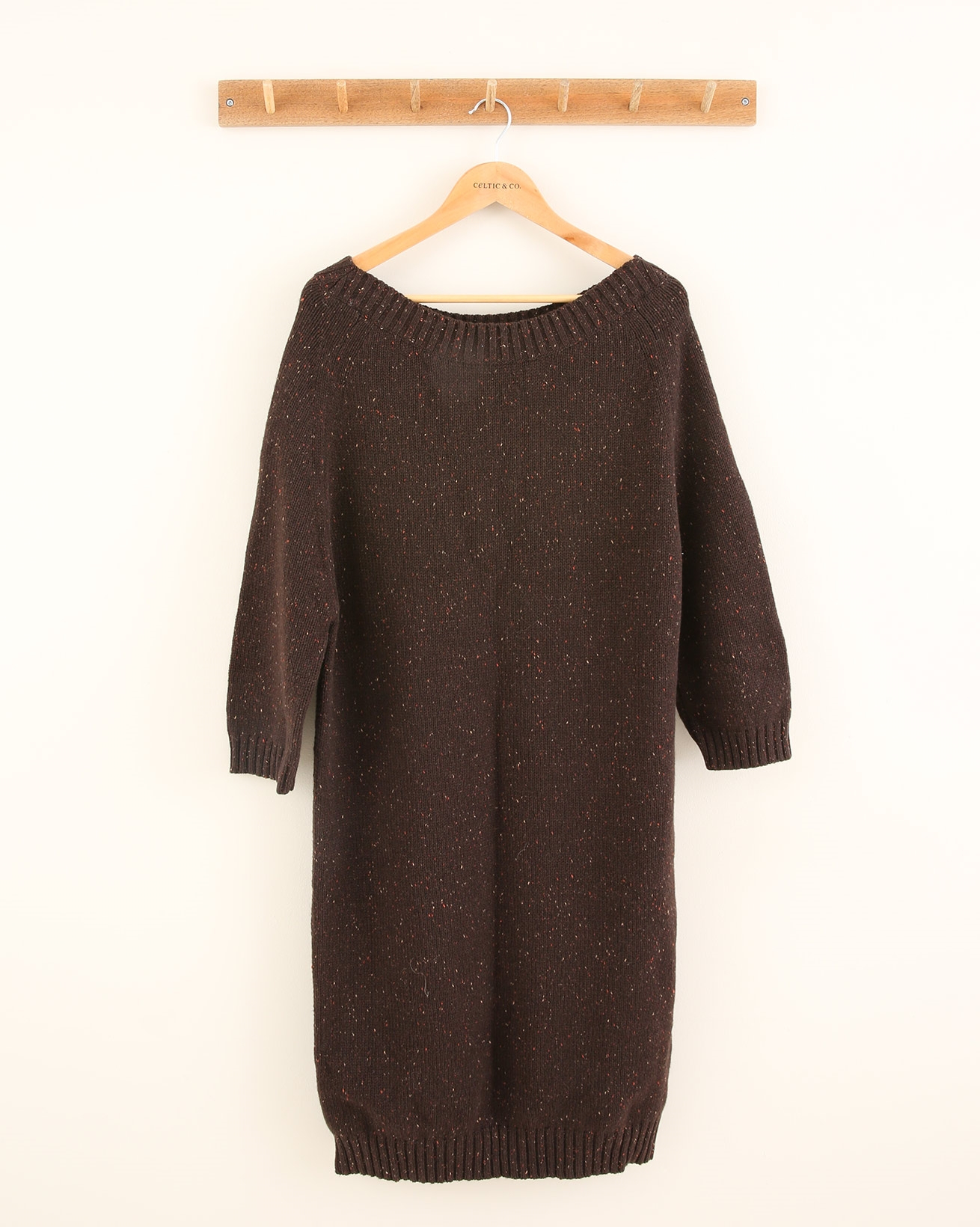 Donegal Midi Dress - Size Medium - Tanners Brown - 1699