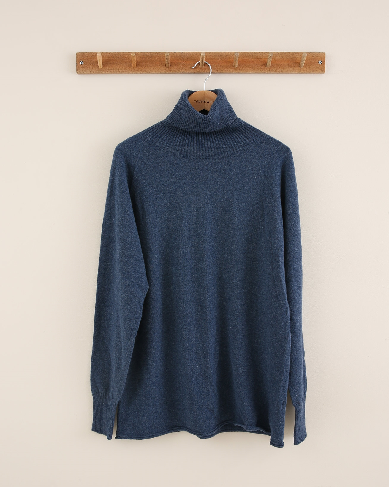 Geelong slouch roll neck - Size Small - Denim - 1702