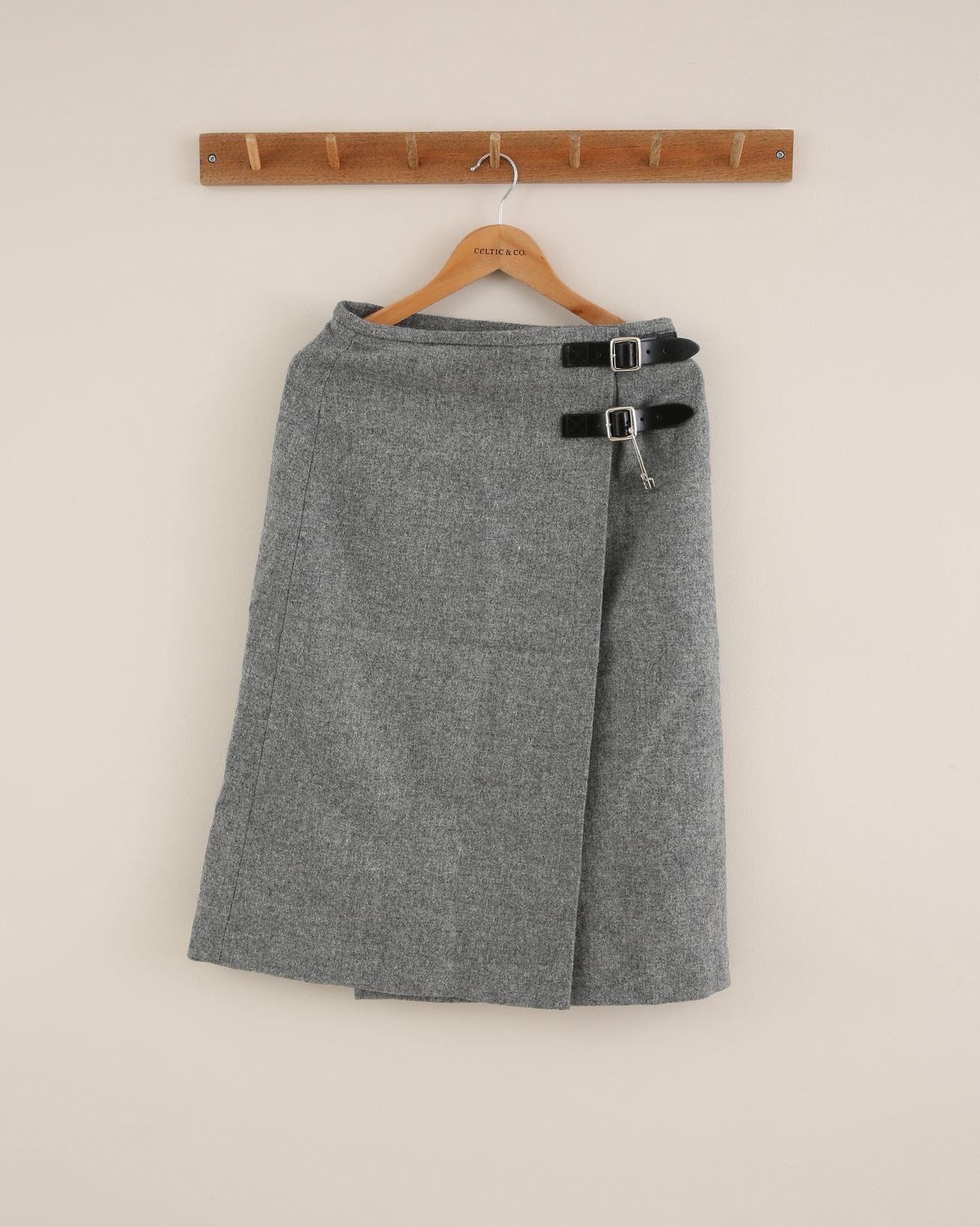 Midi Celt Kilt - Size 10 - Silver Grey - 1705