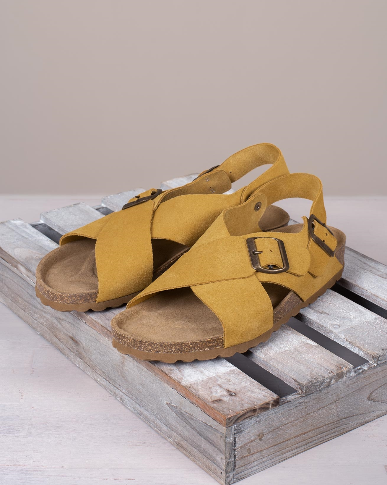 Crossover Buckle Sandals