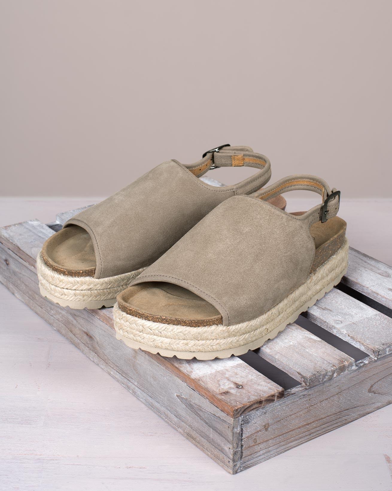 Sling Back Flatform Sandals
