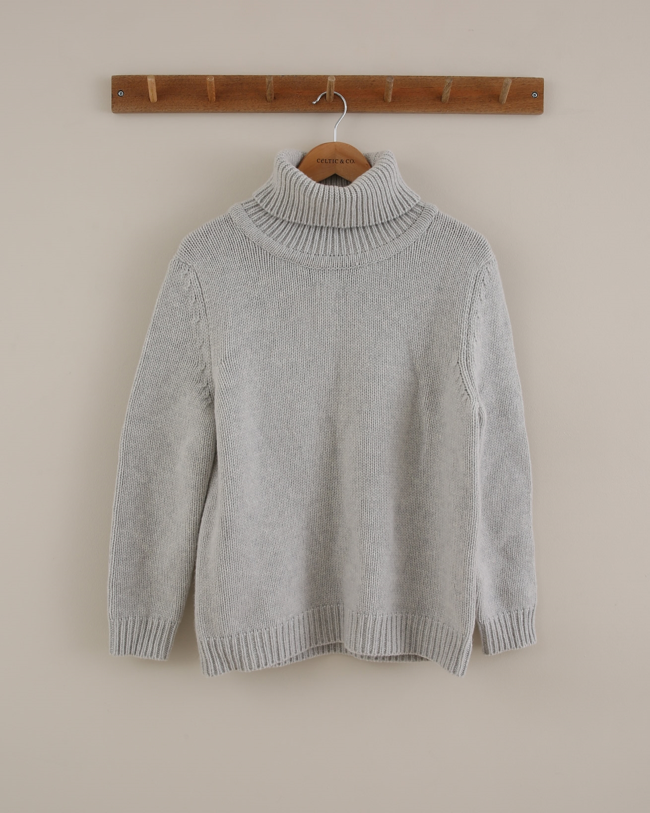 Roll Neck Jumper - Size Small - Grey - 1760