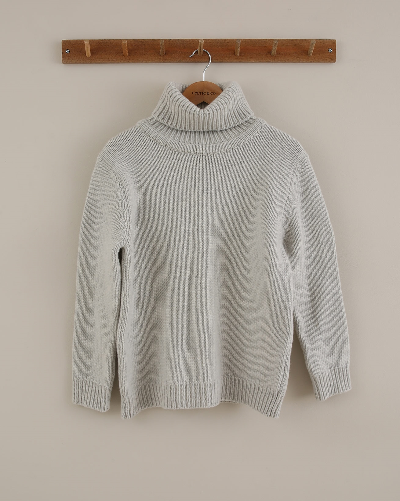Roll Neck Jumper - Size Small - Grey - 1761