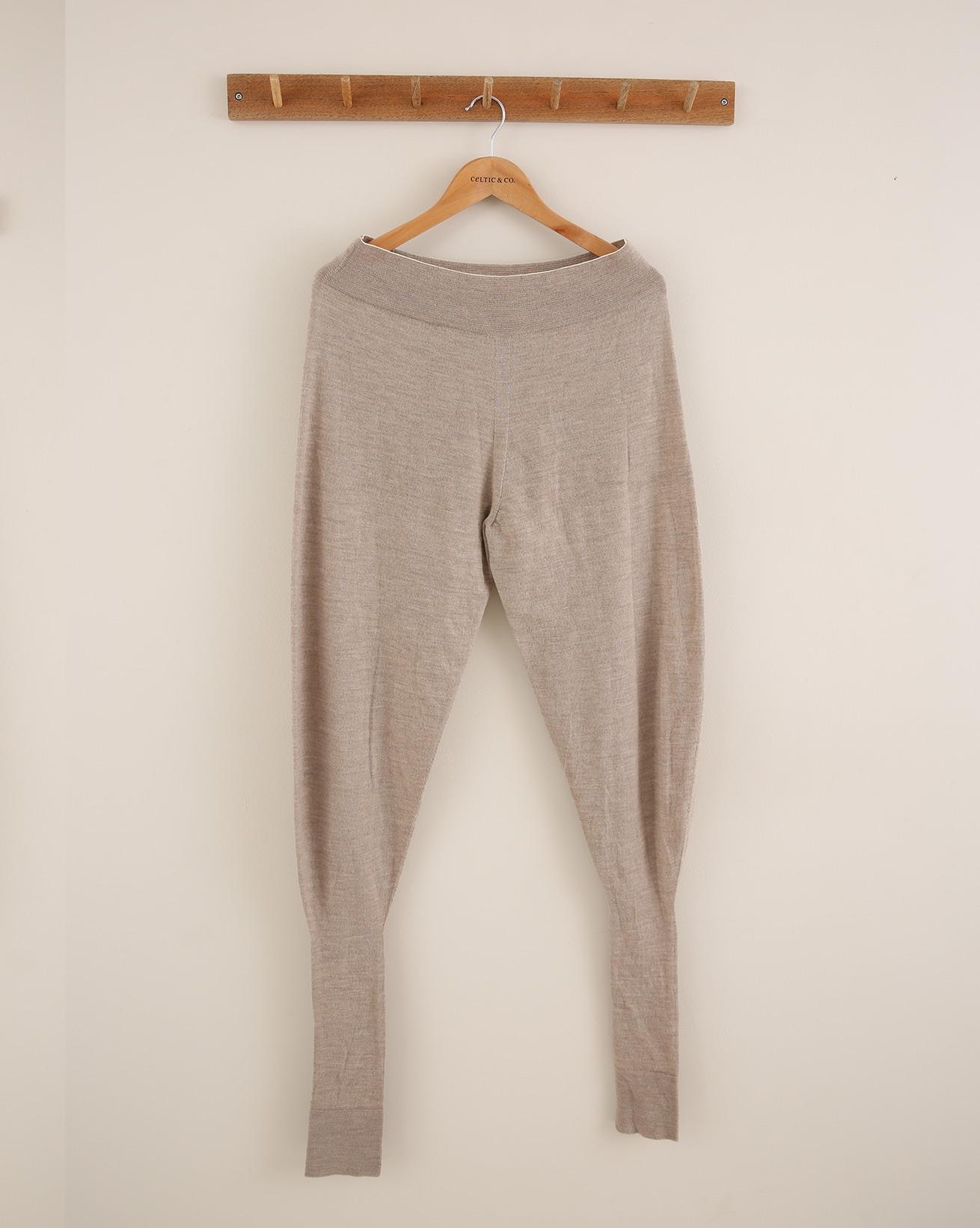 Merino Cuffed Lounge Pants - Size Small - Mushroom - 1805