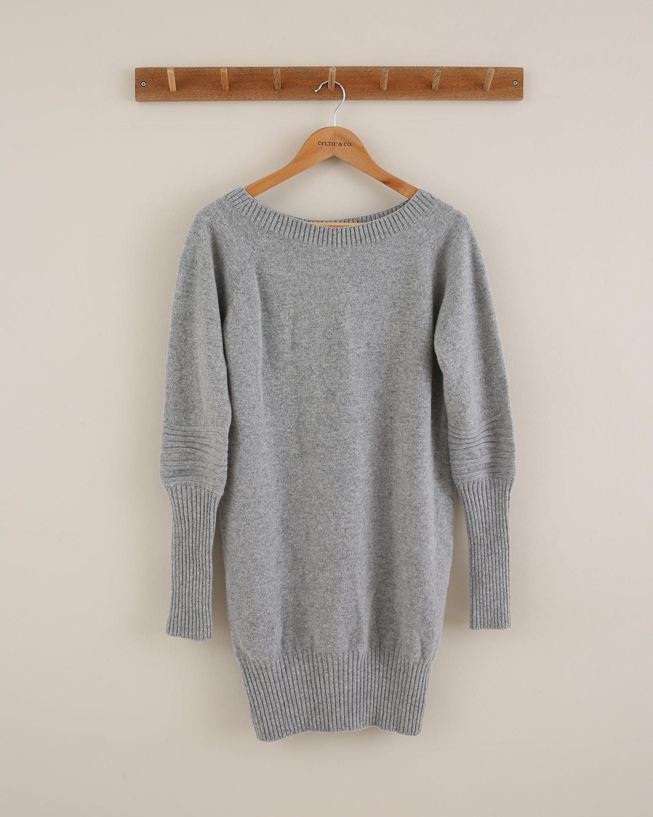 Supersoft slouch dress (with rib cuff detail) - Size Small - Silver Grey - 1814