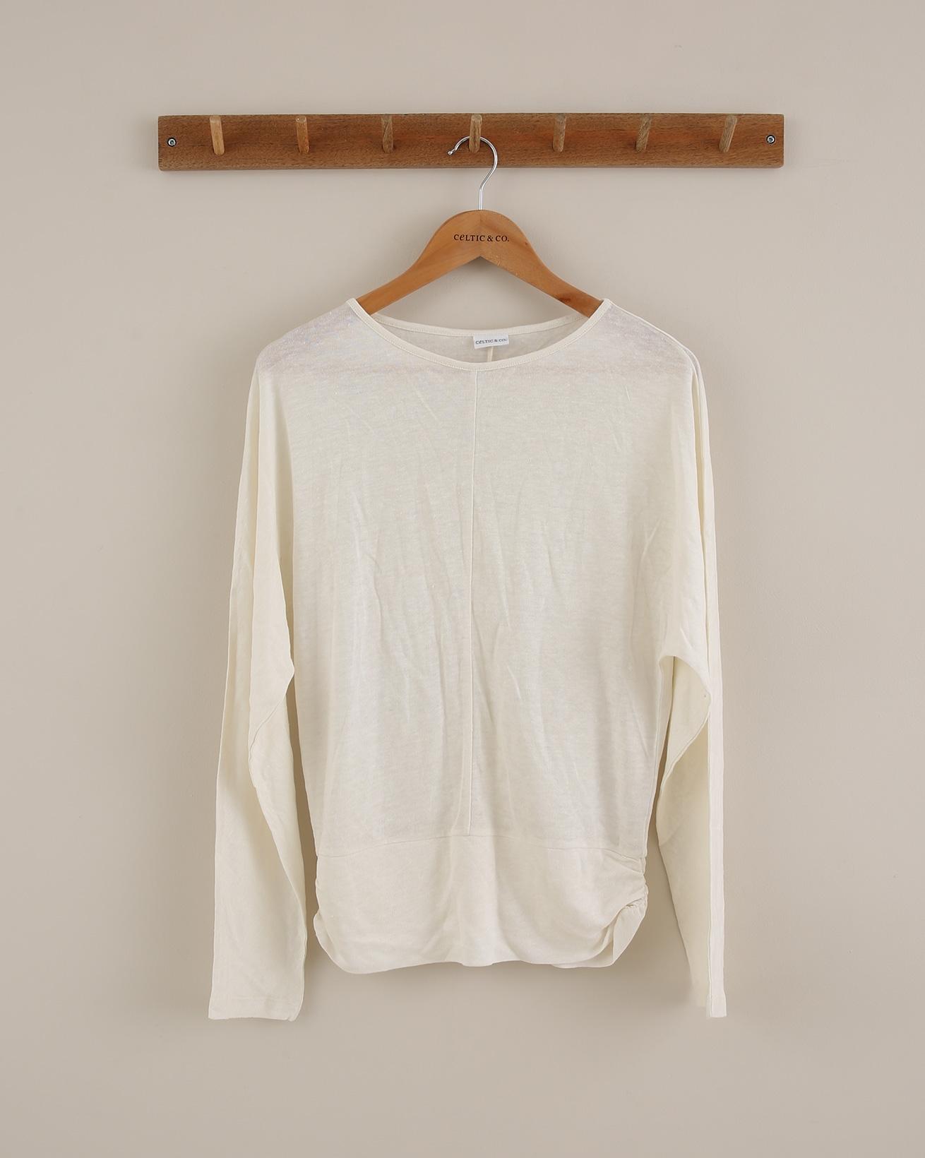 Linen Long Sleeve Dolman - Size 10 - Ivory - 1821