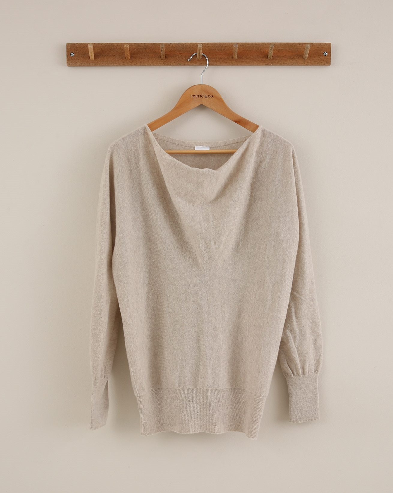 Soft Cowl Jumper - Size Small - Biscuit - 1827