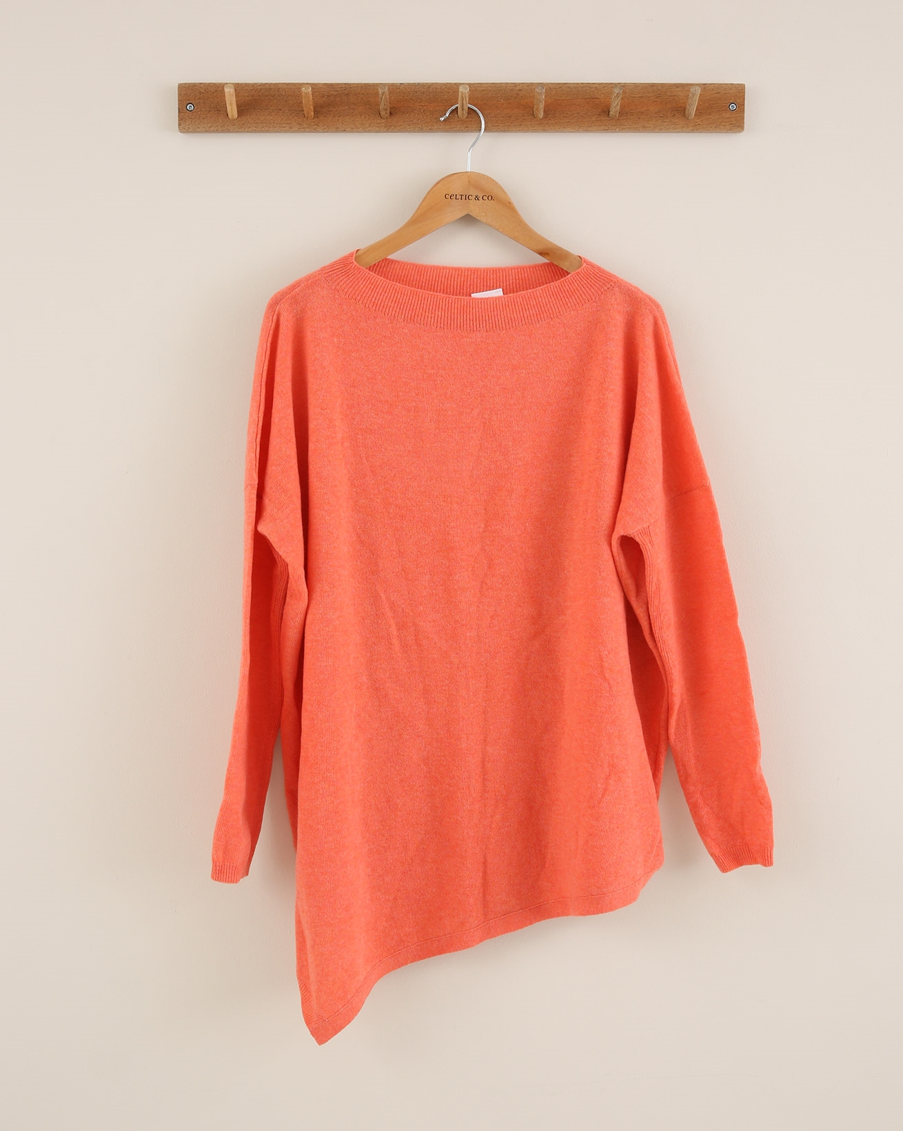 Geelong Asymetric Tunic - Size Small - Coral - 1838