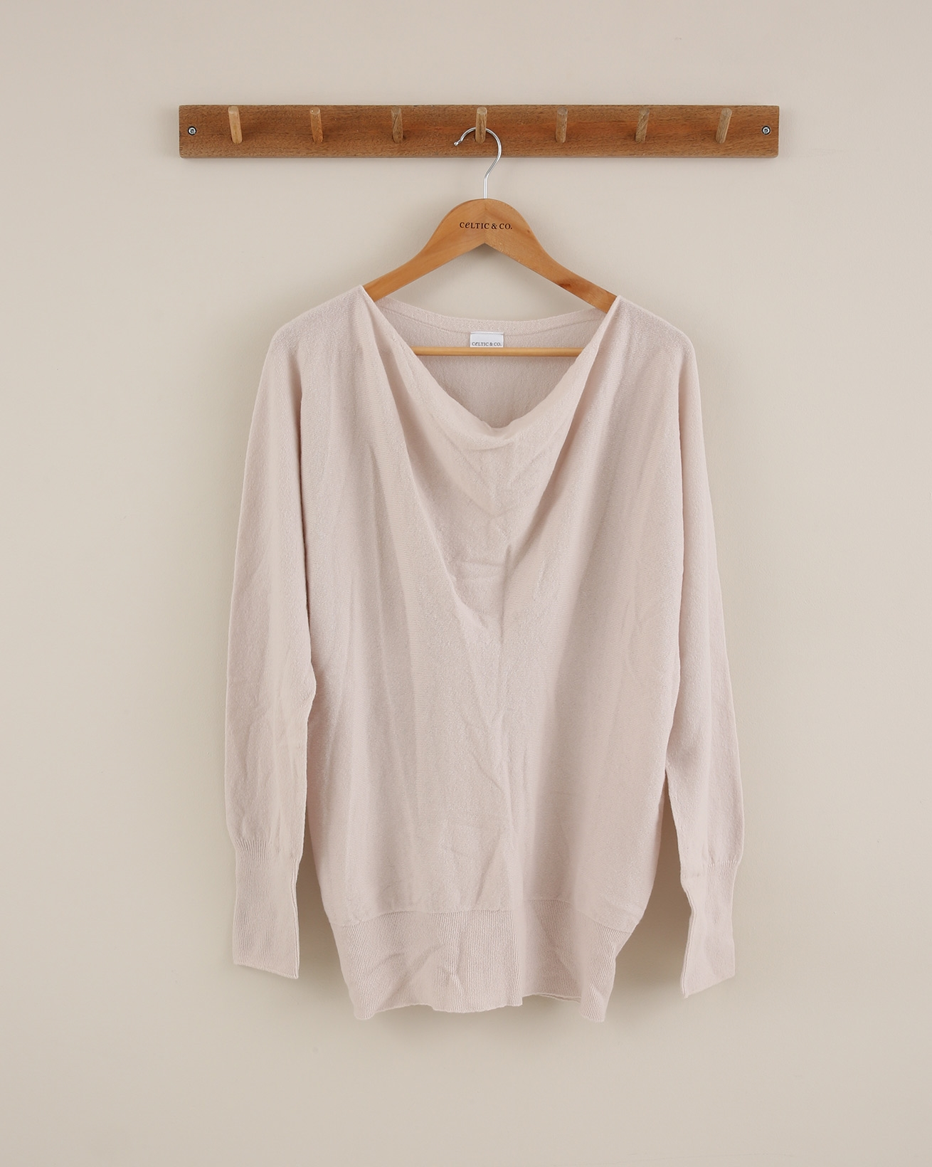 Soft Cowl Jumper - Size Small - Pale Peony - 1841