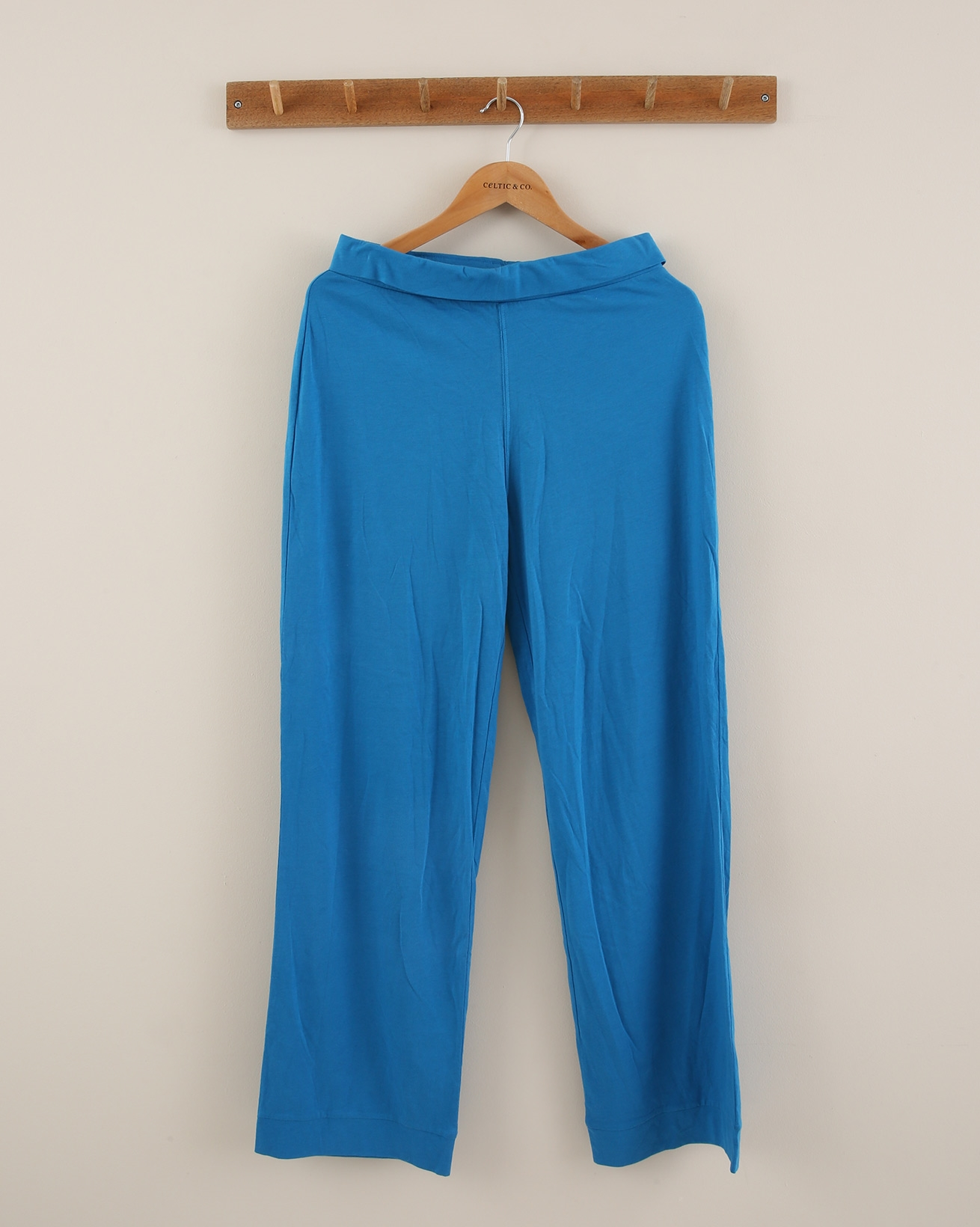Wide leg cotton lounge pants - Size Small - Azure - 1851