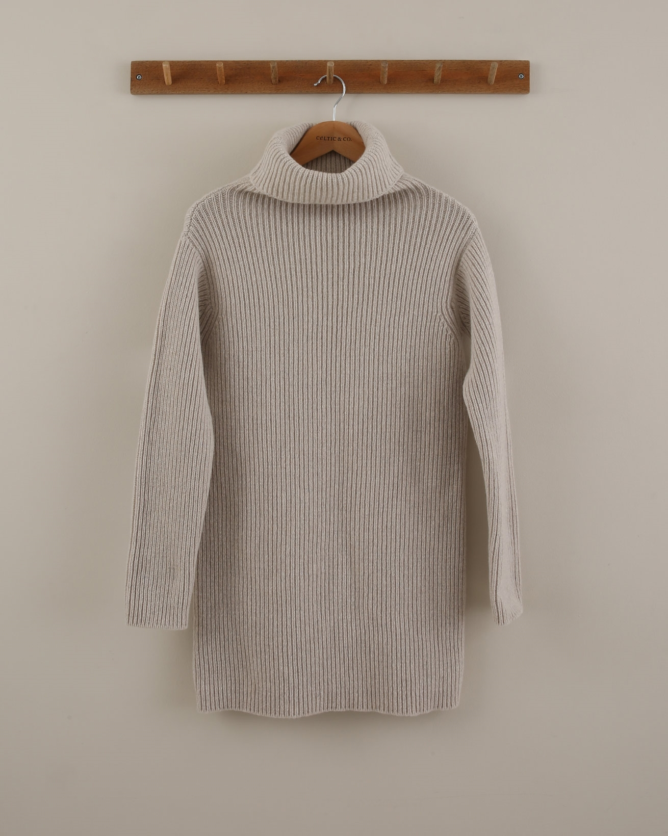 Ribbed Chunky Geelong - Size Small - Oatmeal - 1855
