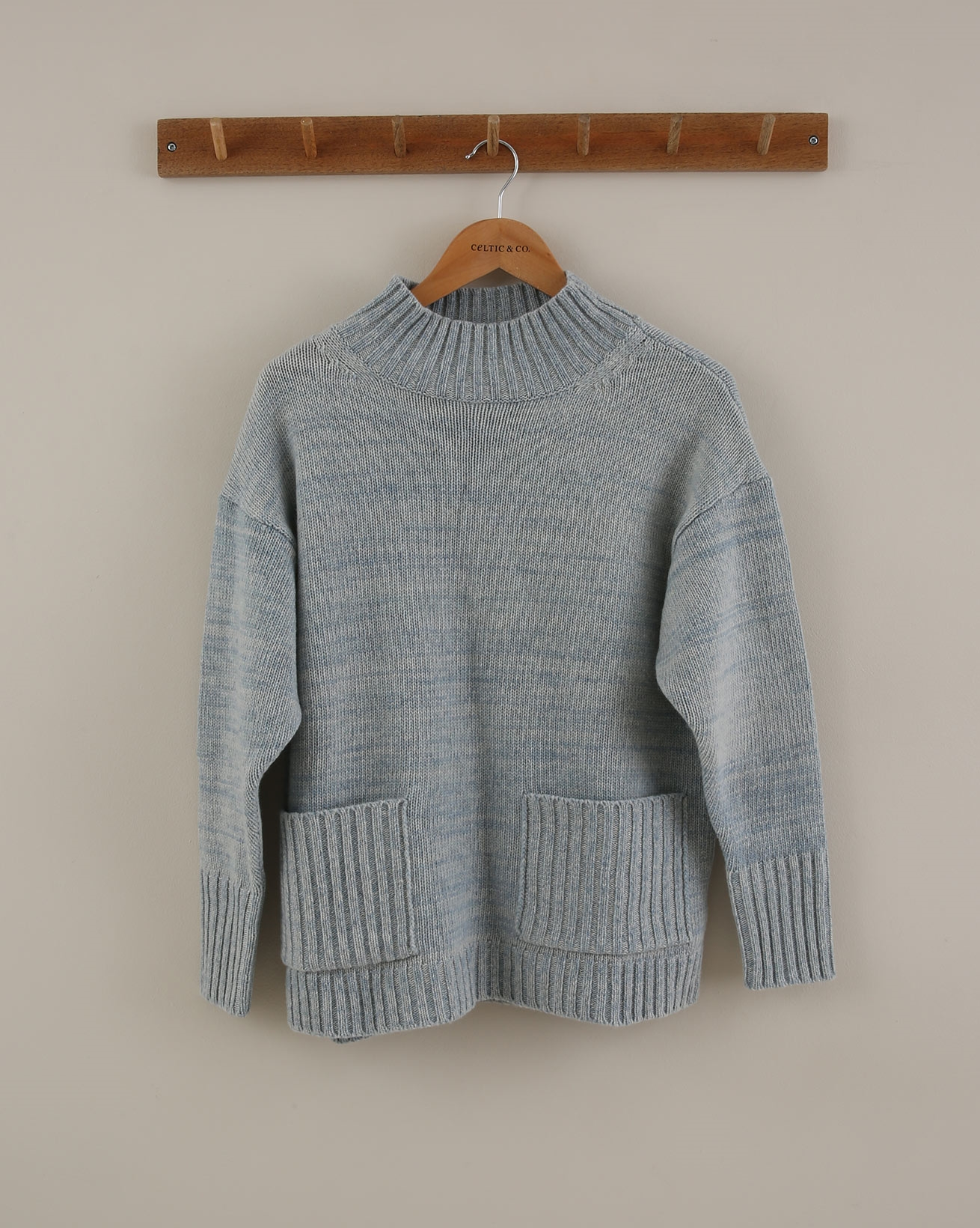 Geelong Pocket Detail Jumper - Size Small - Skylight Cable - 1875