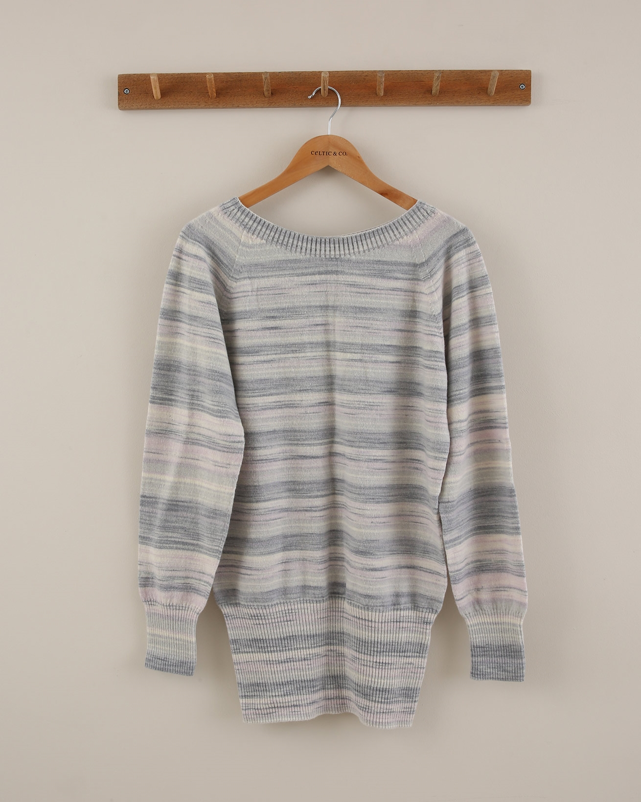 Supersoft Slouch Jumper - Size Small - Heather Ombre - 1877