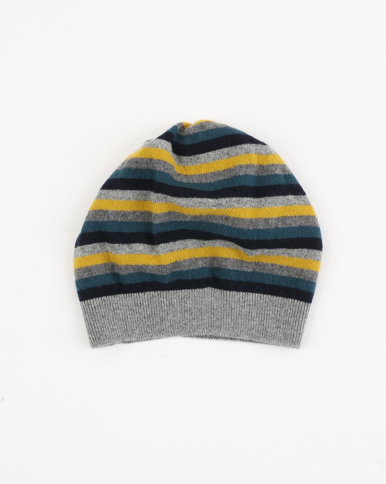 Multi Stripe Hat - One Size - Gorse/Navy - 1884