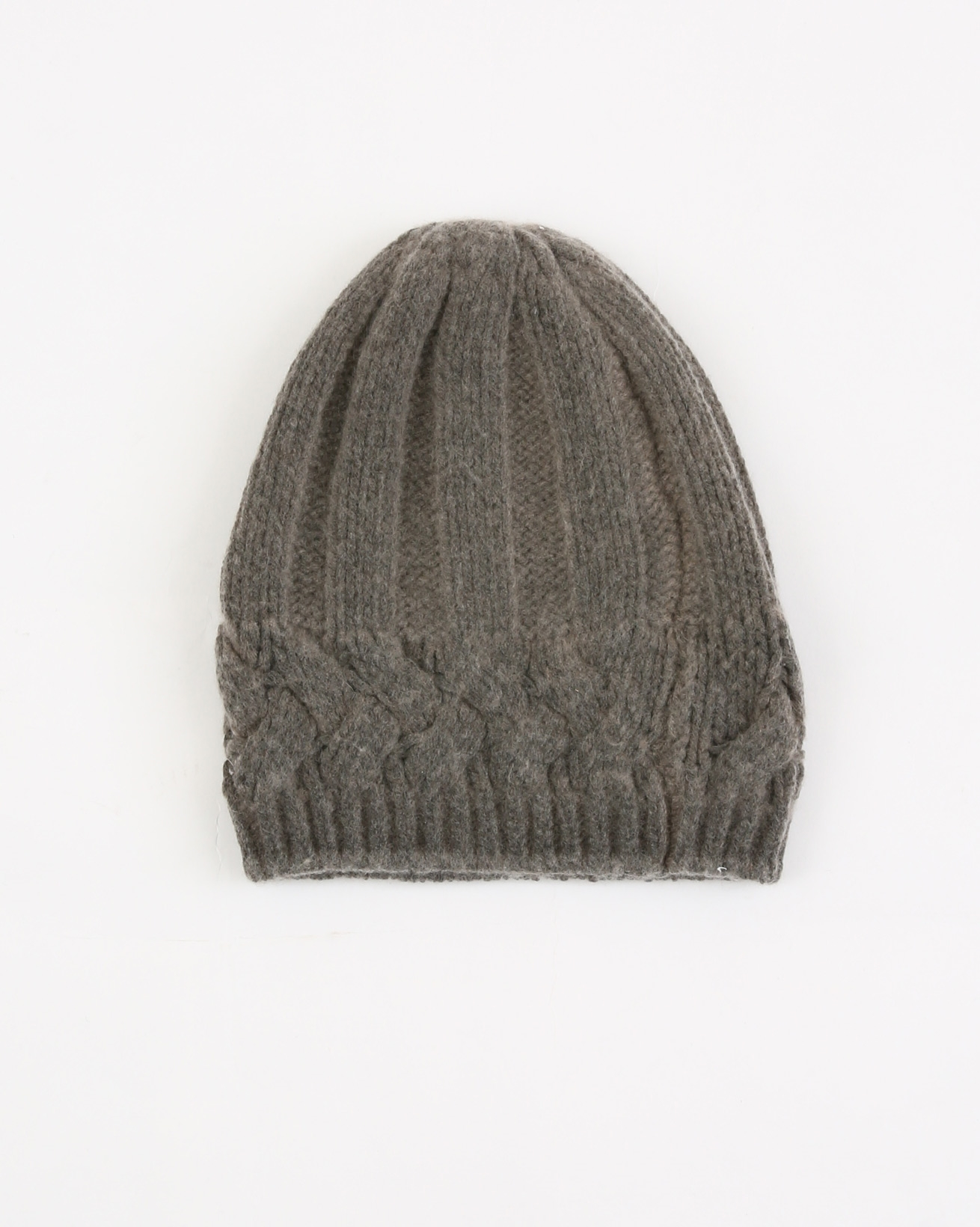 Recycled Cashmere Cable Beanie - One Size - Vole - 1894