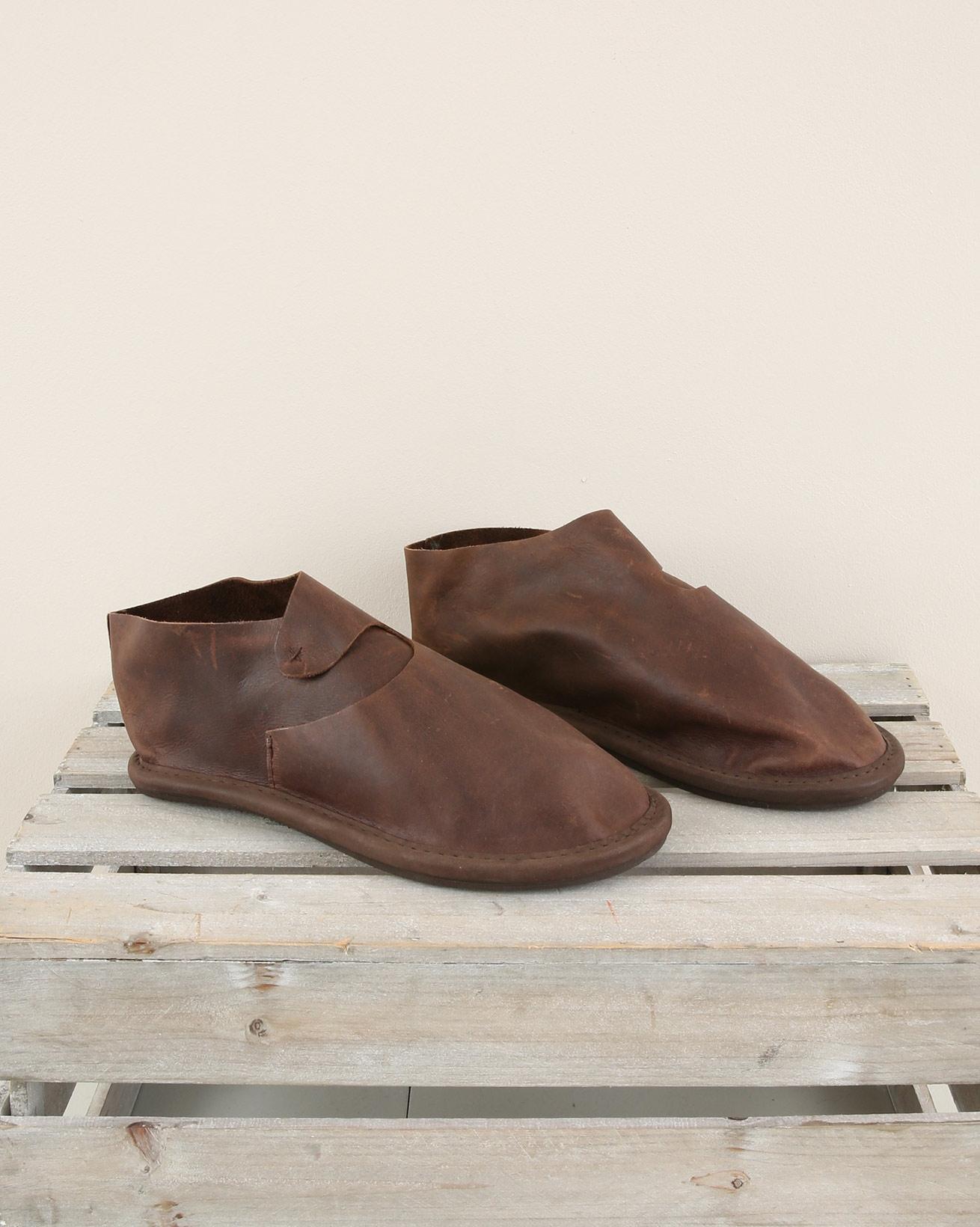 Viking Leather Slipper - Size 6 - Mocca - 1906