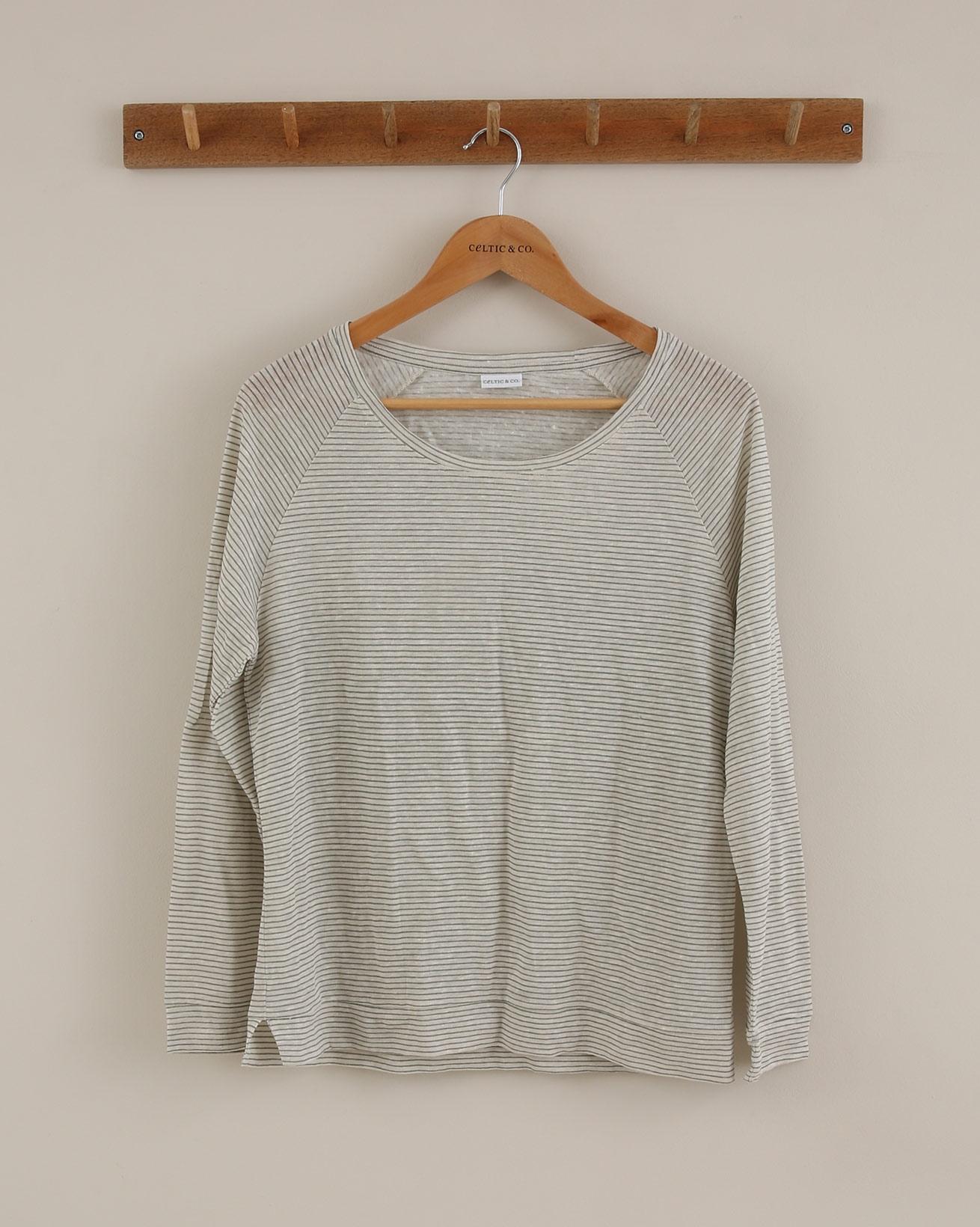 Linen Sweatshirt - Size 14 - Sage Ecru - 1912