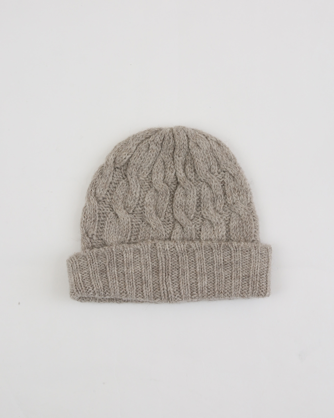 Cable Knit Beanie - One Size - Mushroom Cable - 1932