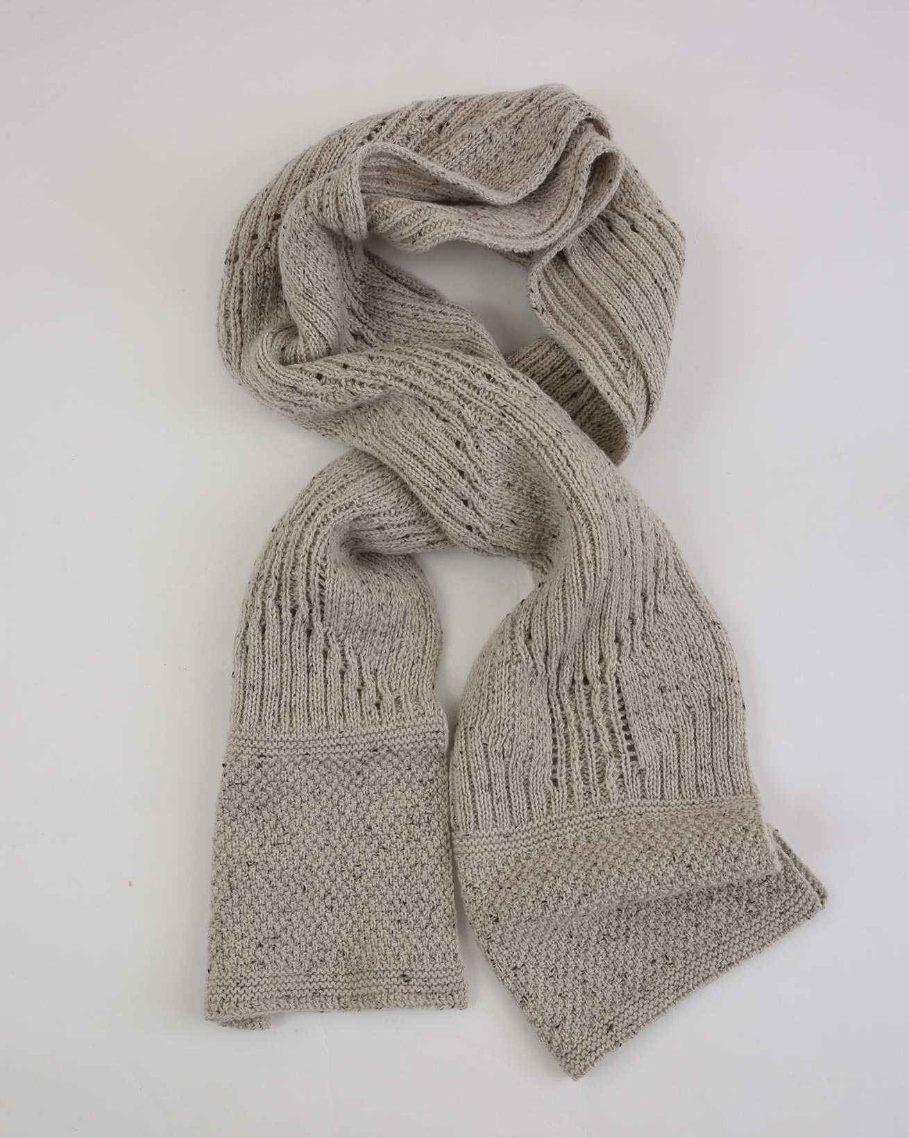 Donegal Detail Scarf - One Size - Grey Mix - 1933