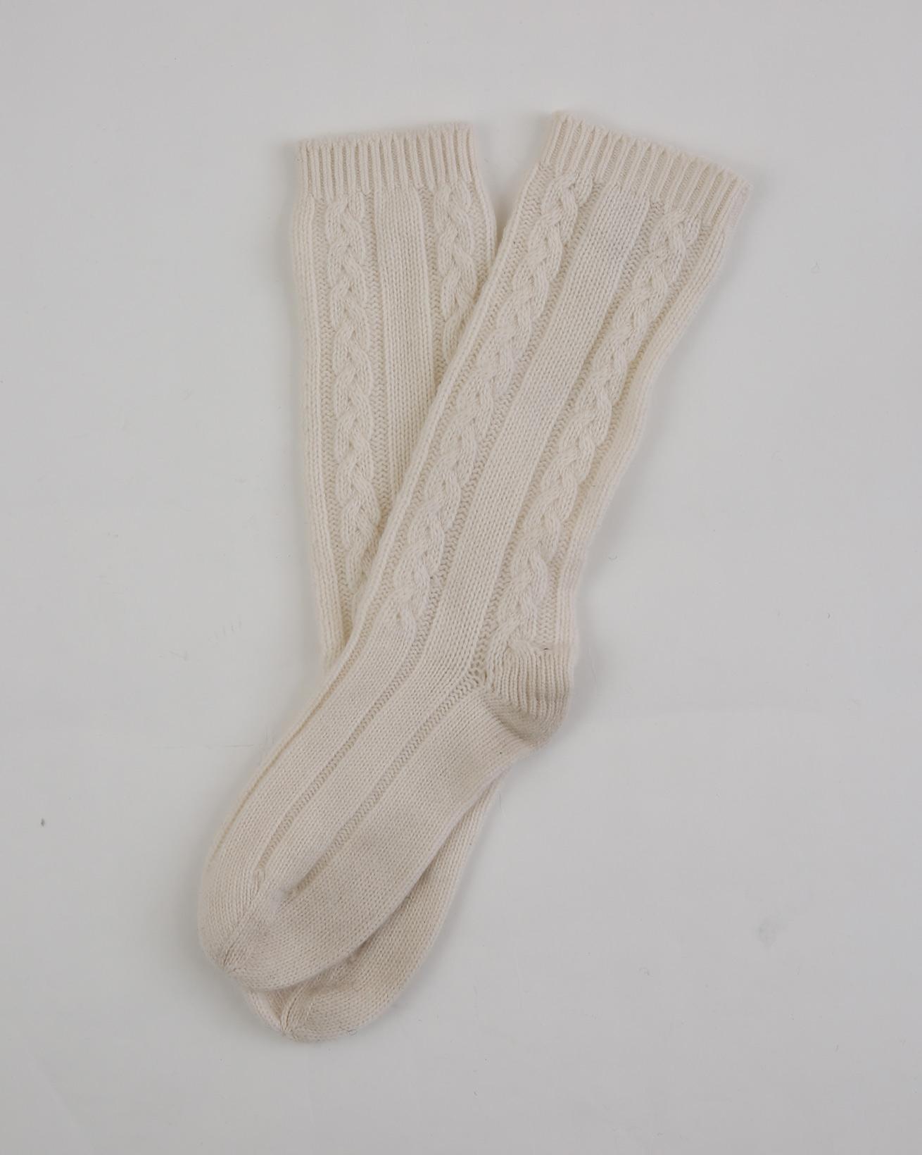 Cashmere Sleep Socks - One Size - Ecru - 1956