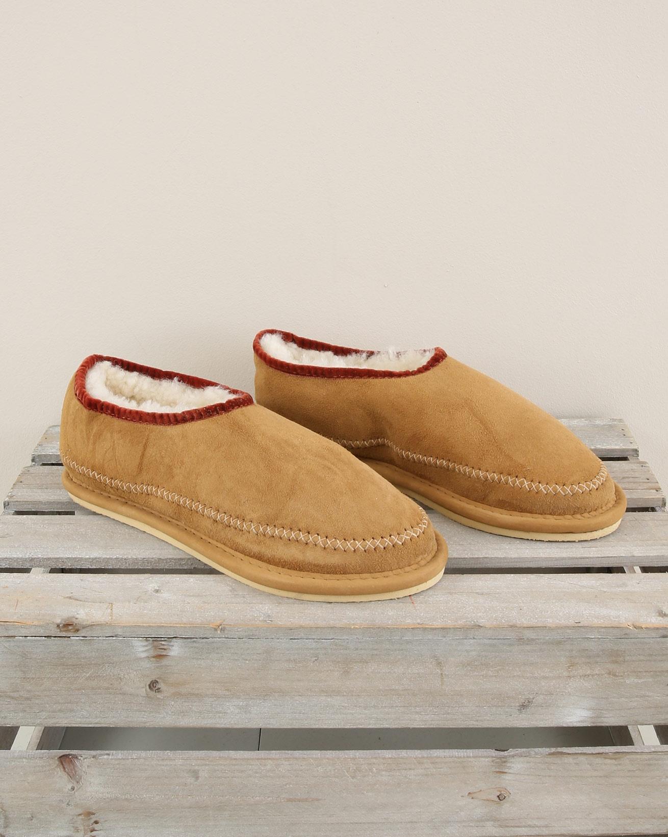 Moccasin slipper with velvet binding - Size 6 - Spice - 1978