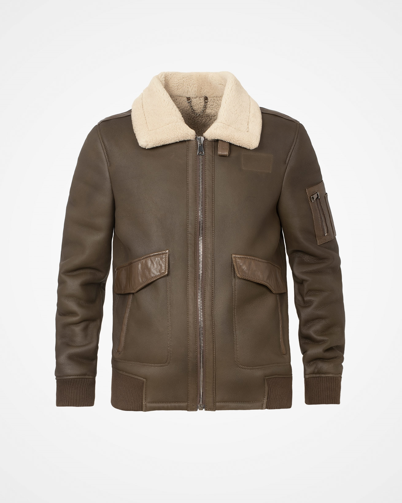 Men's Sheepskin Maverick Jacket - Size Medium - Tanners Brown - 2012