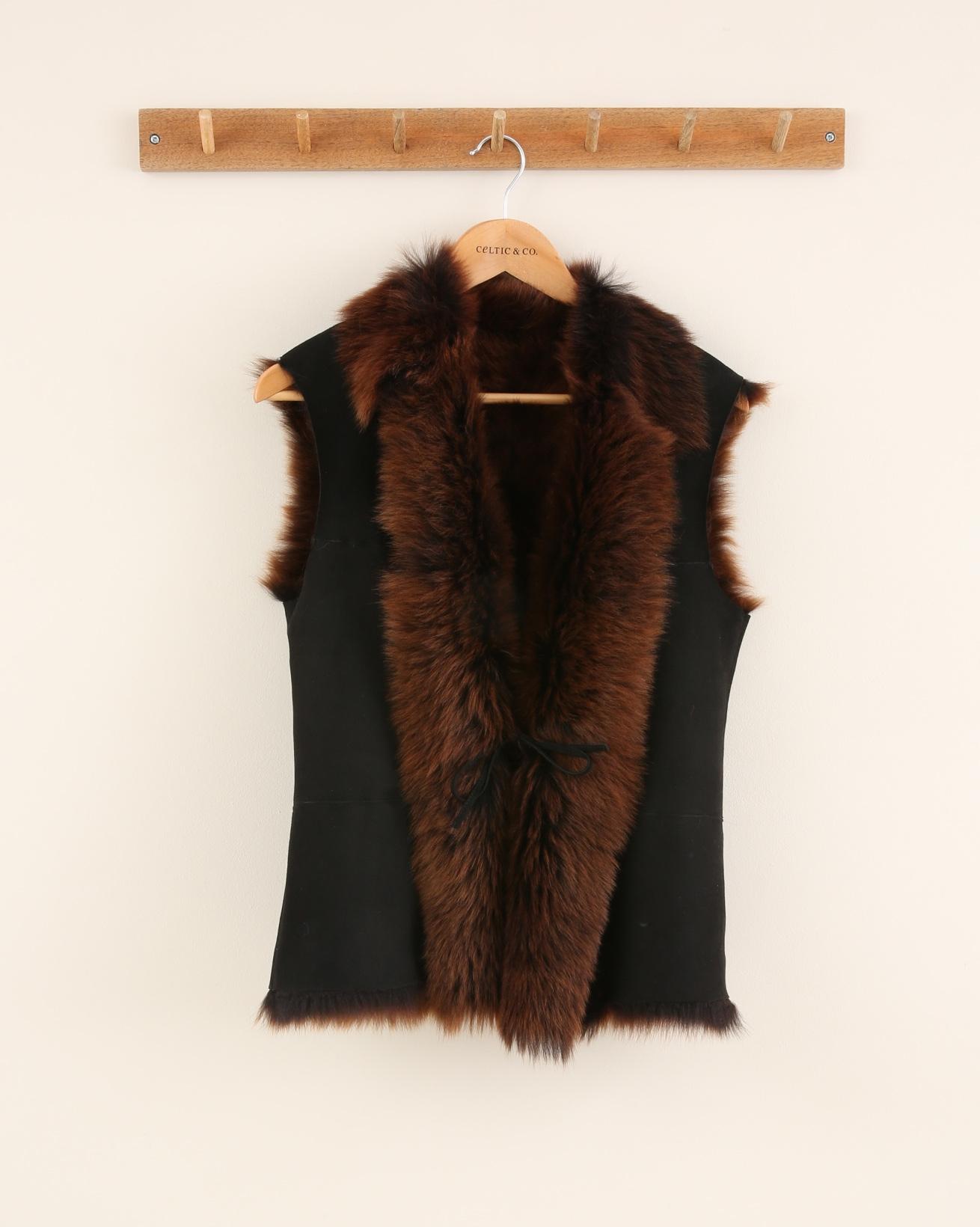 Toscana Gilet - Size 8 - Rust/Black - 2098