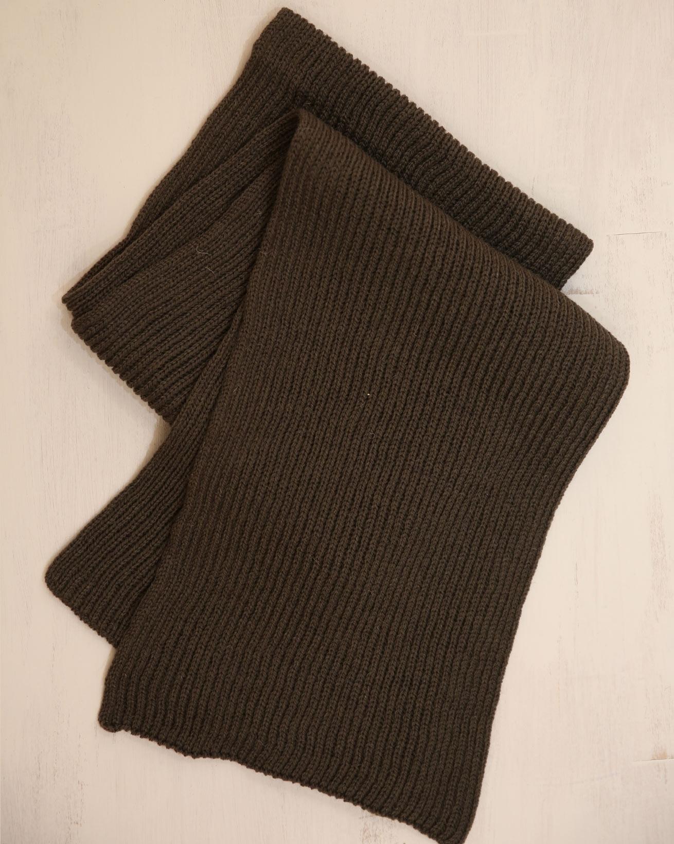 Ladies Rib Scarf - One Size - Khaki - 2331