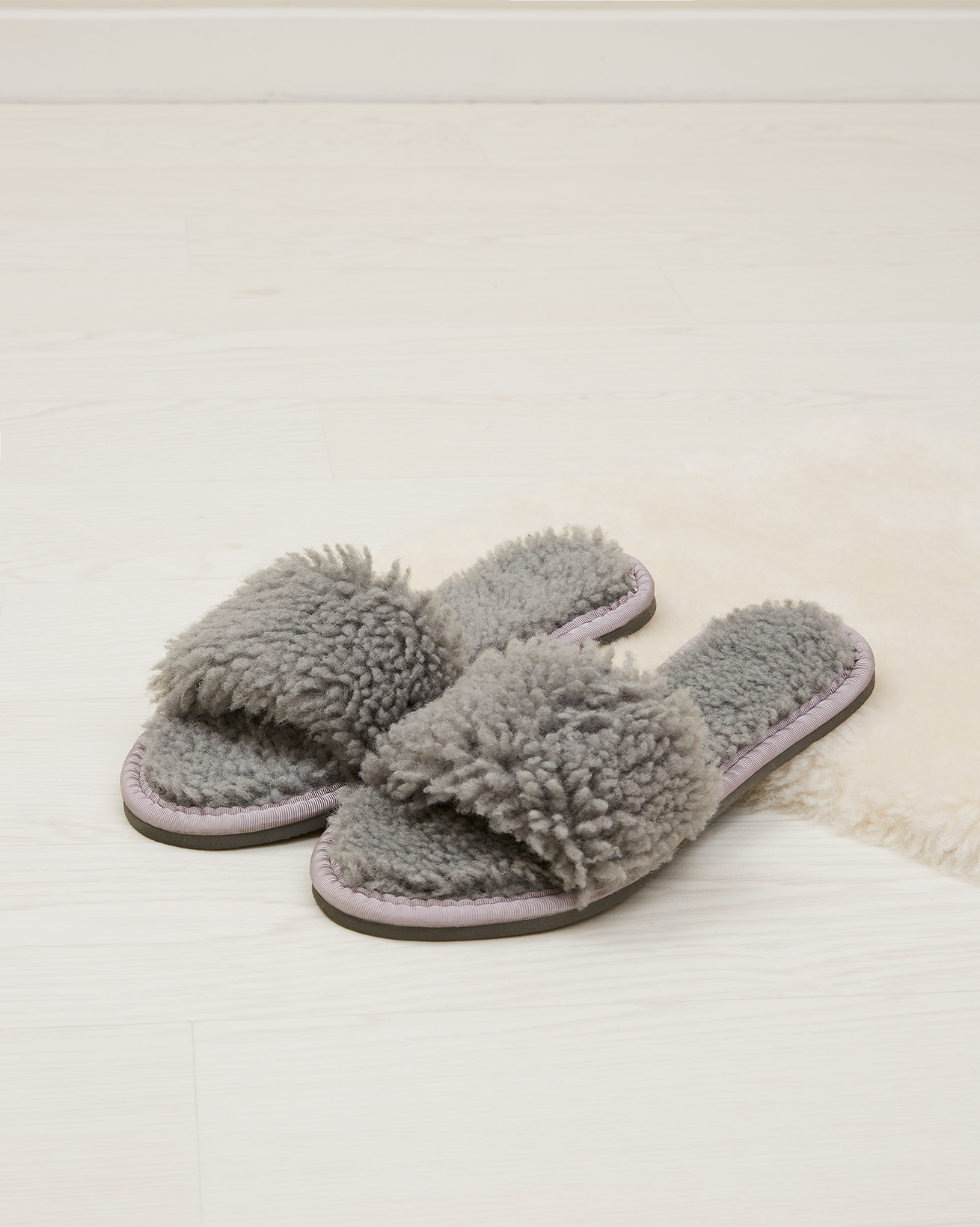Shearling Slides