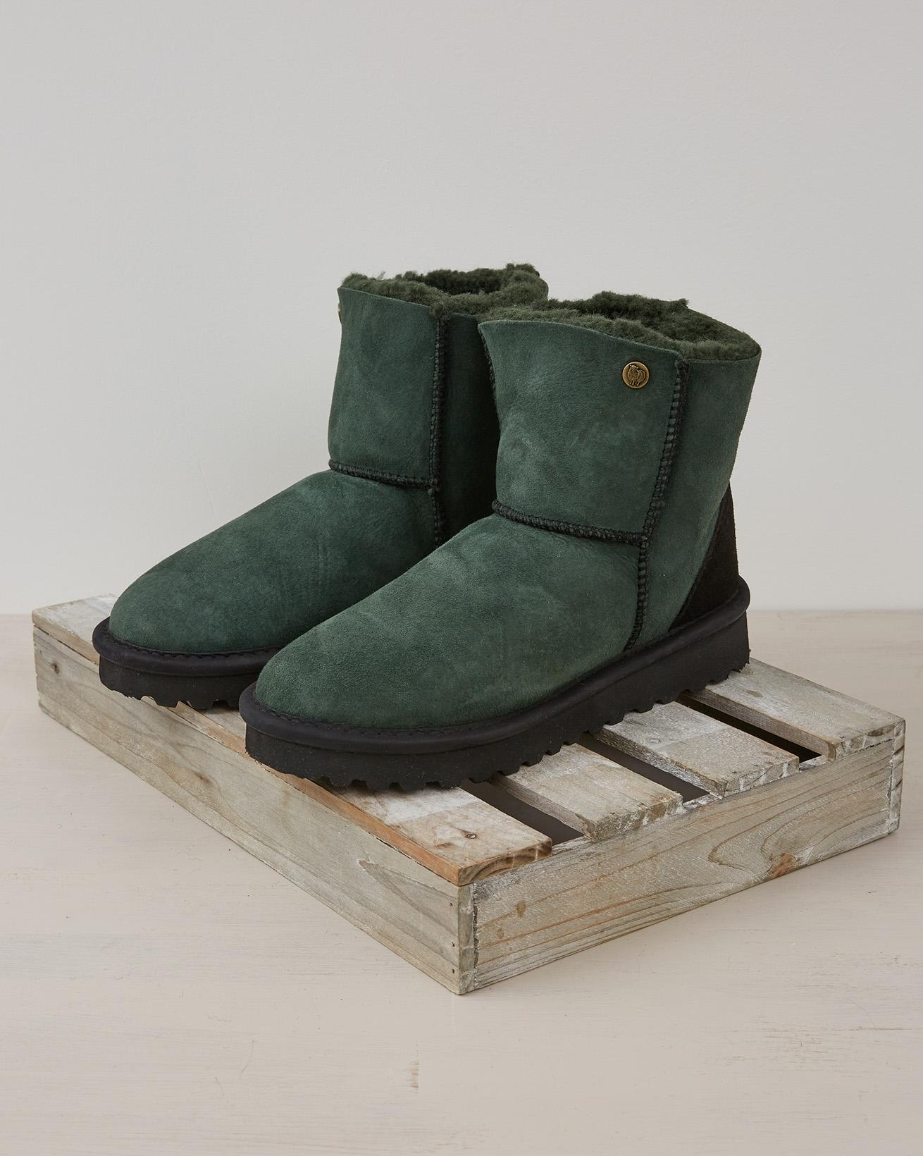 Ladies Celt Shortie Boots - Size 6 - Forest Green - 2385