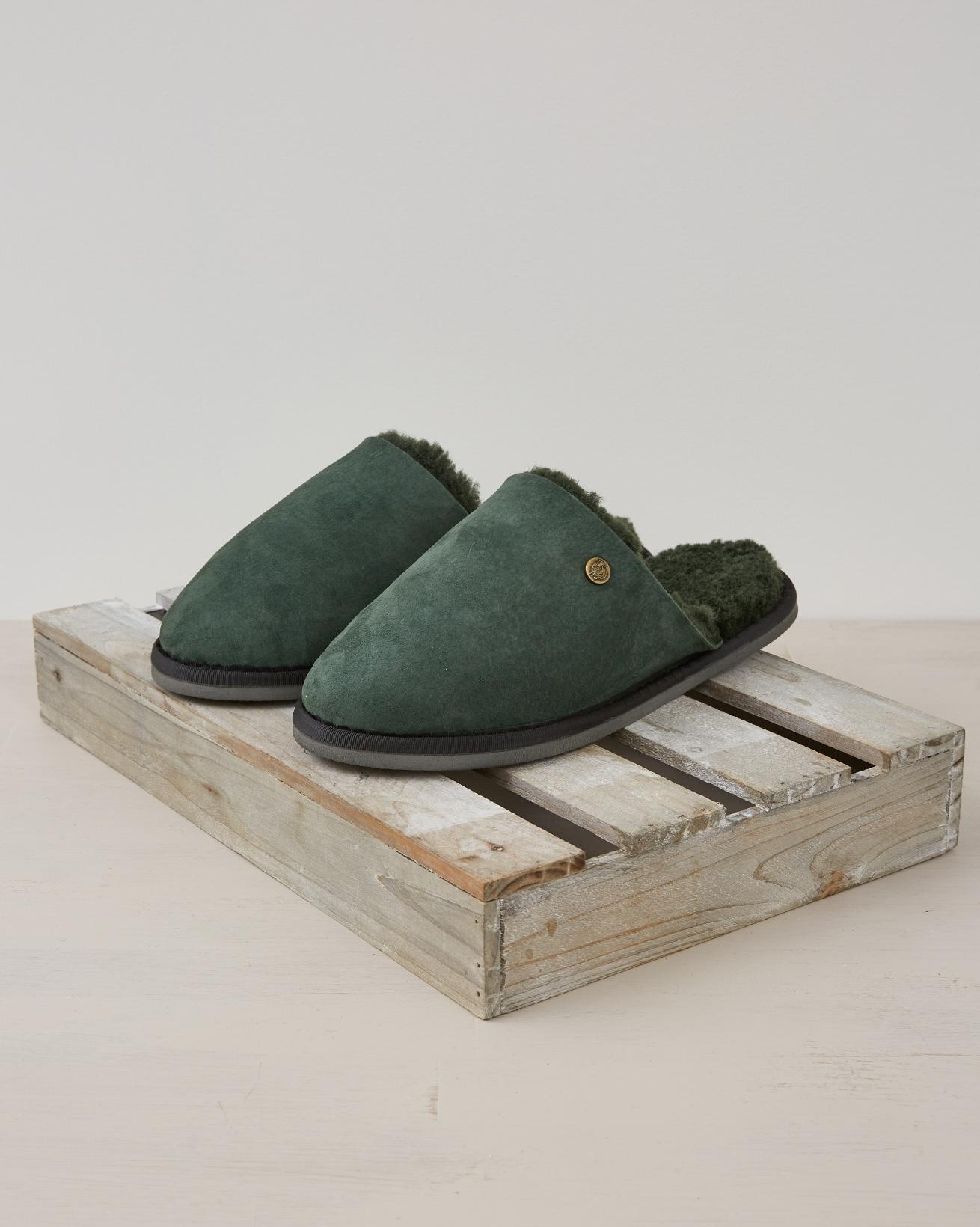 Ladies Sheepskin Mule - Size 6 - Forest Green - 2387