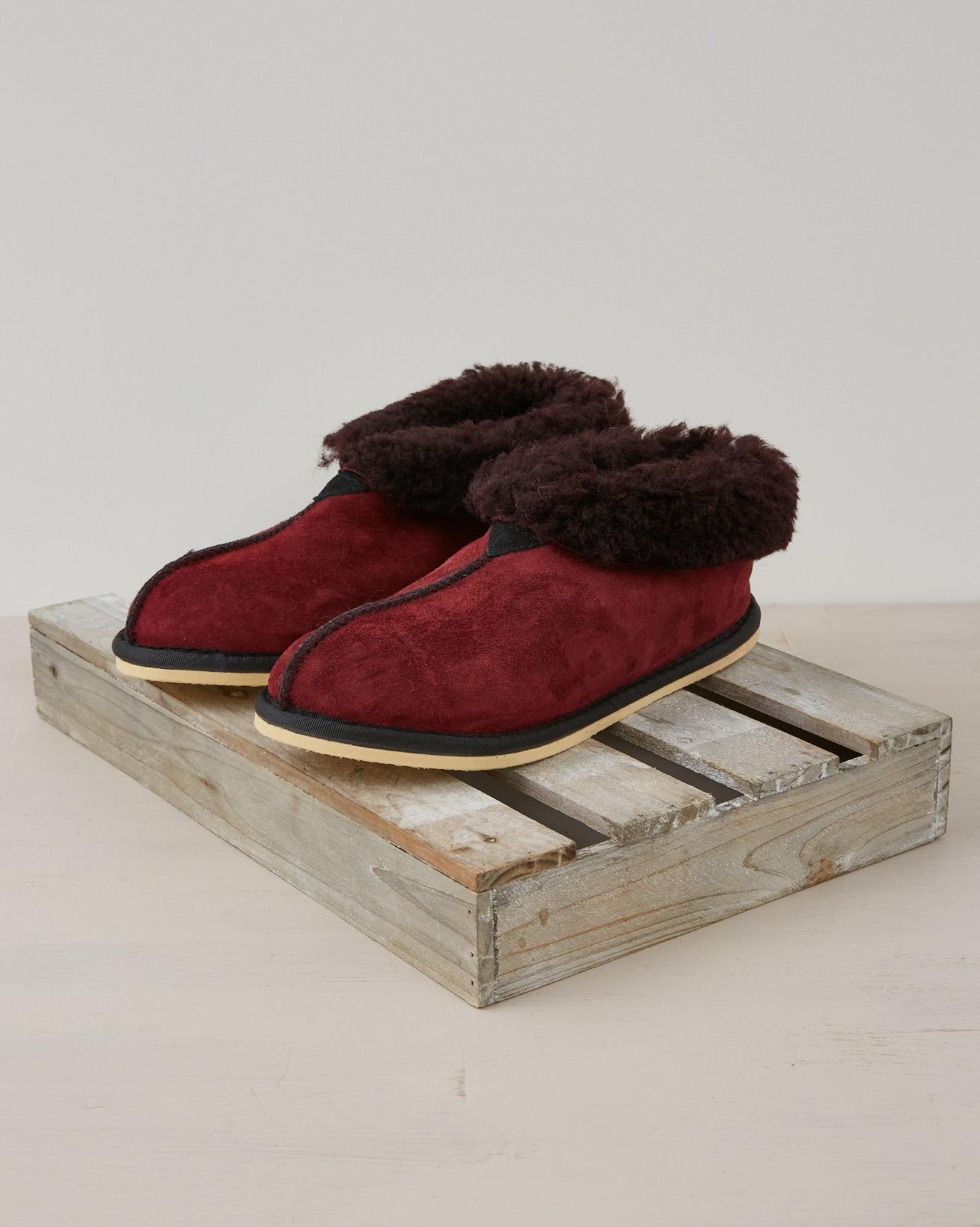 Ladies bootee slipper - Size 6 - Claret - 2388